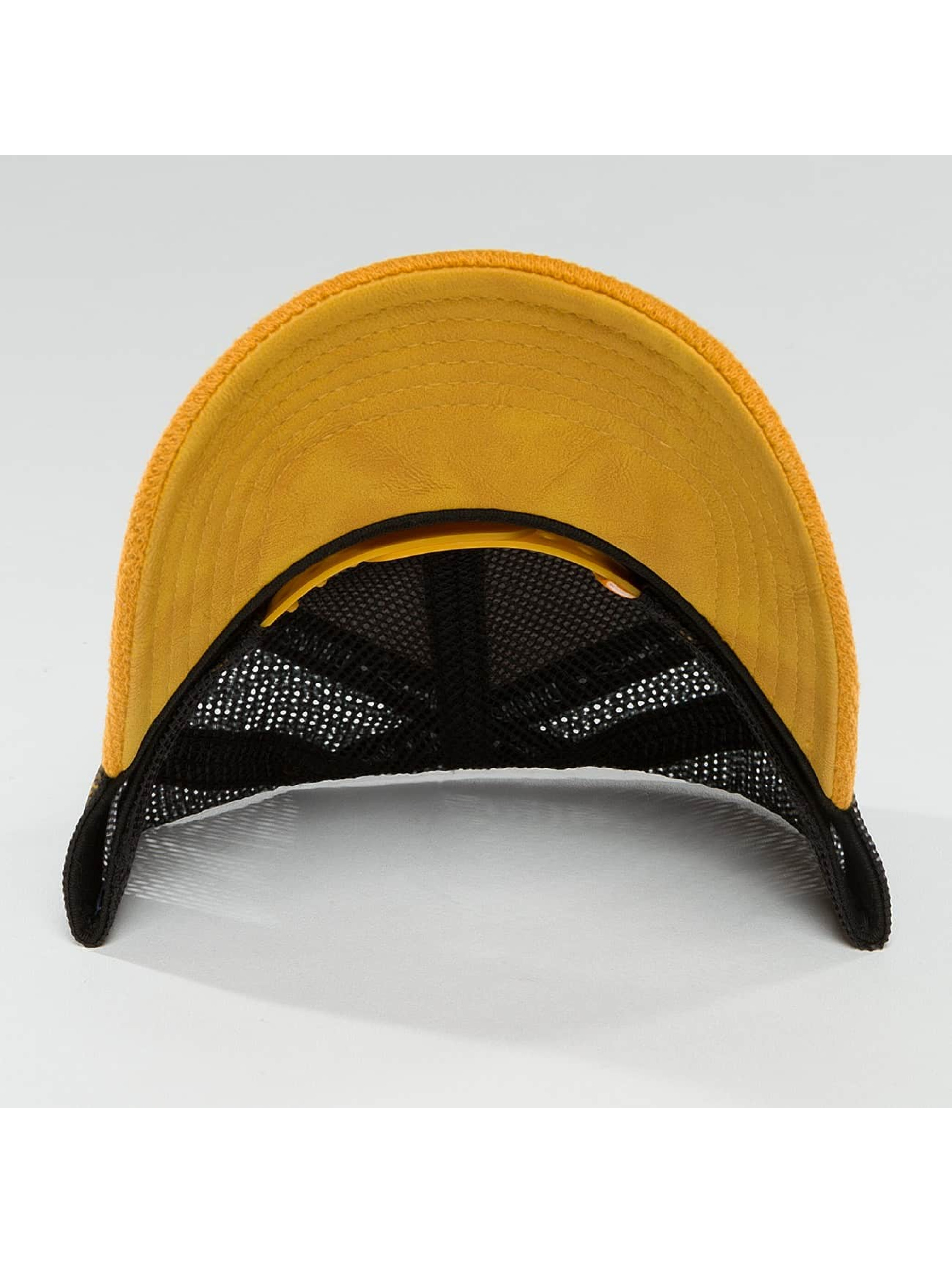 Djinns Gorra Trucker HFT Piki Leather amarillo