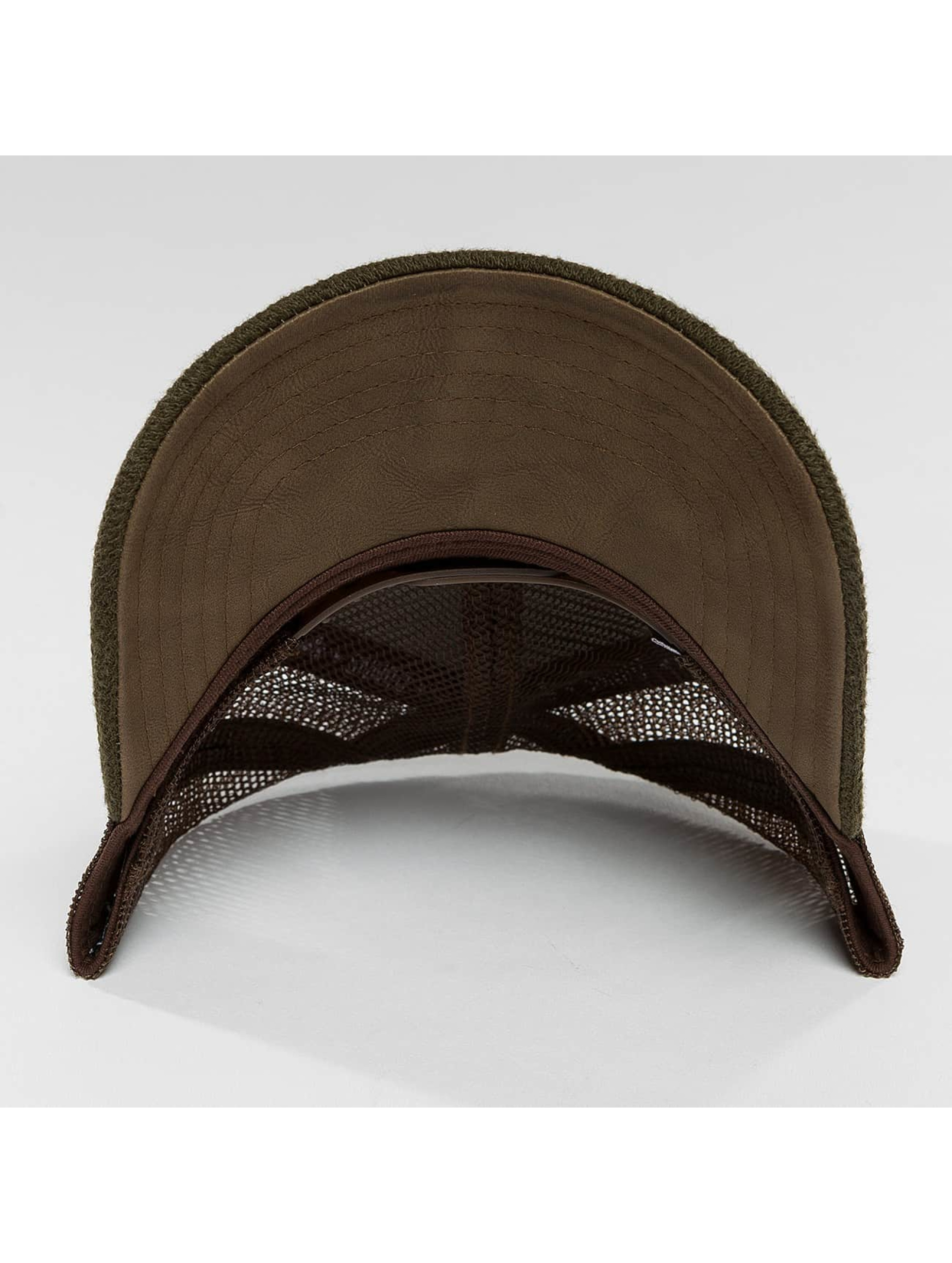 Djinns Gorra Trucker HFT Piki Leather marrón