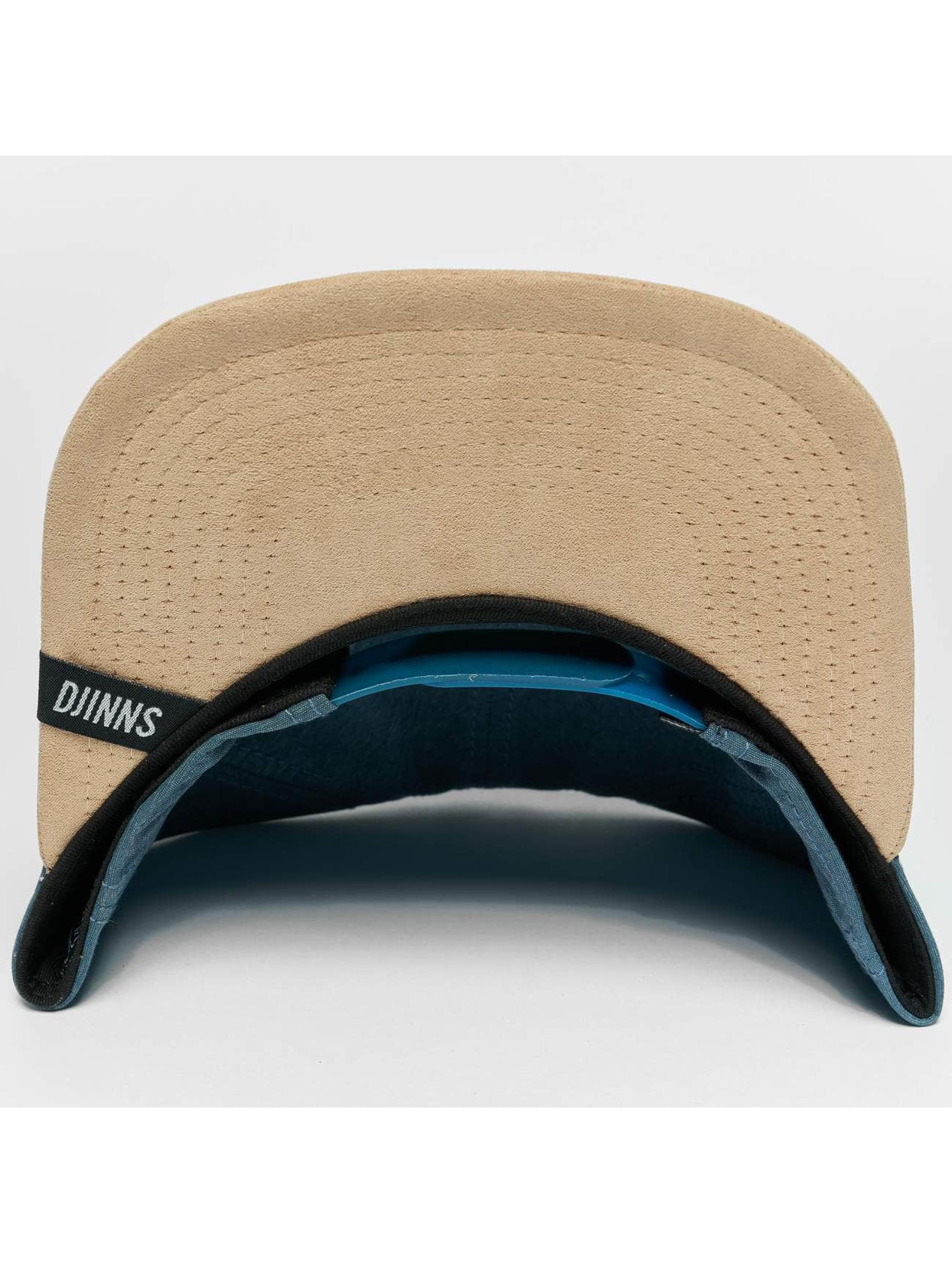Djinns Snapback Cap Melange Twill blue