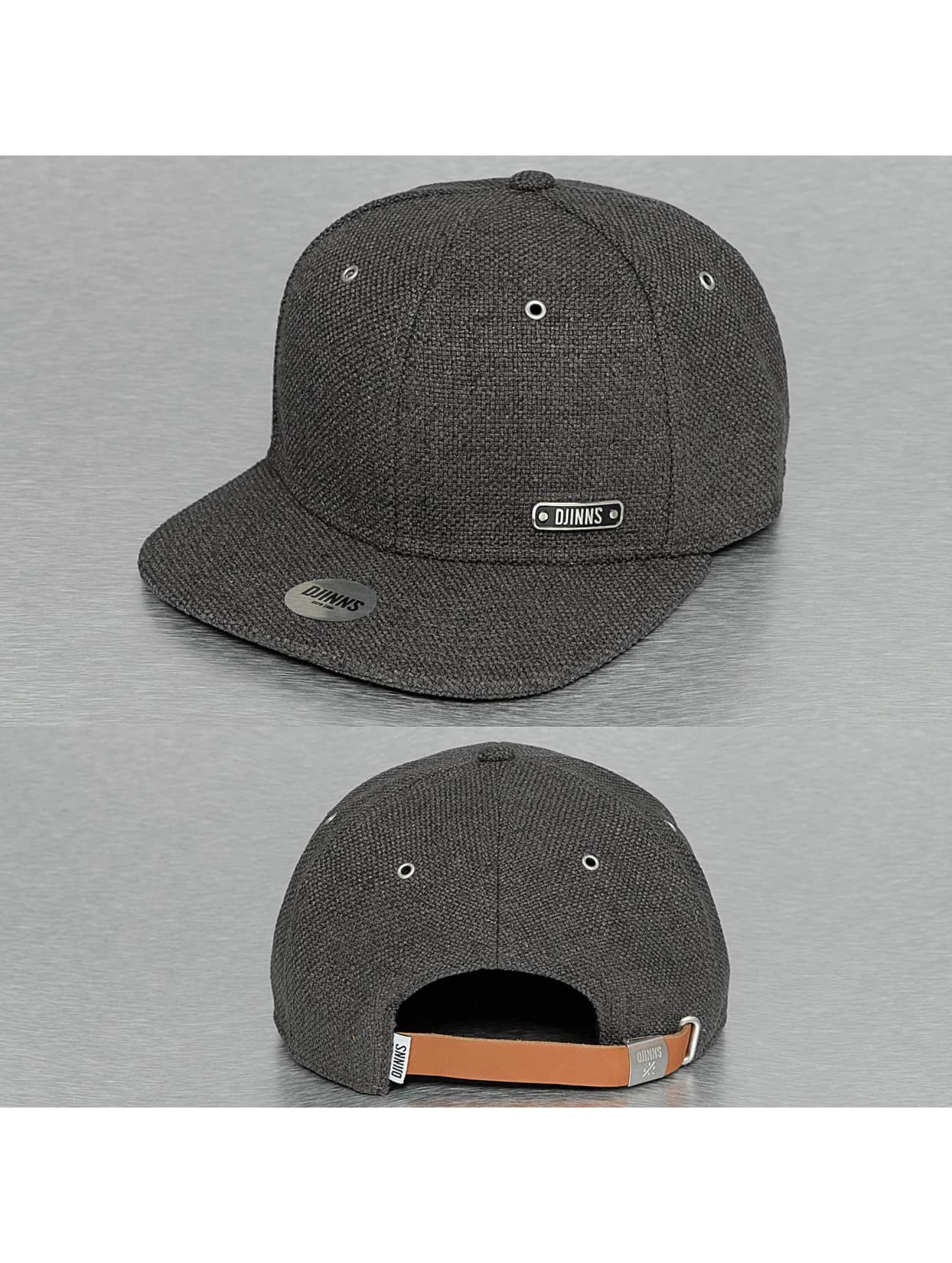 Snapback Cap 6P Best Linen in schwarz