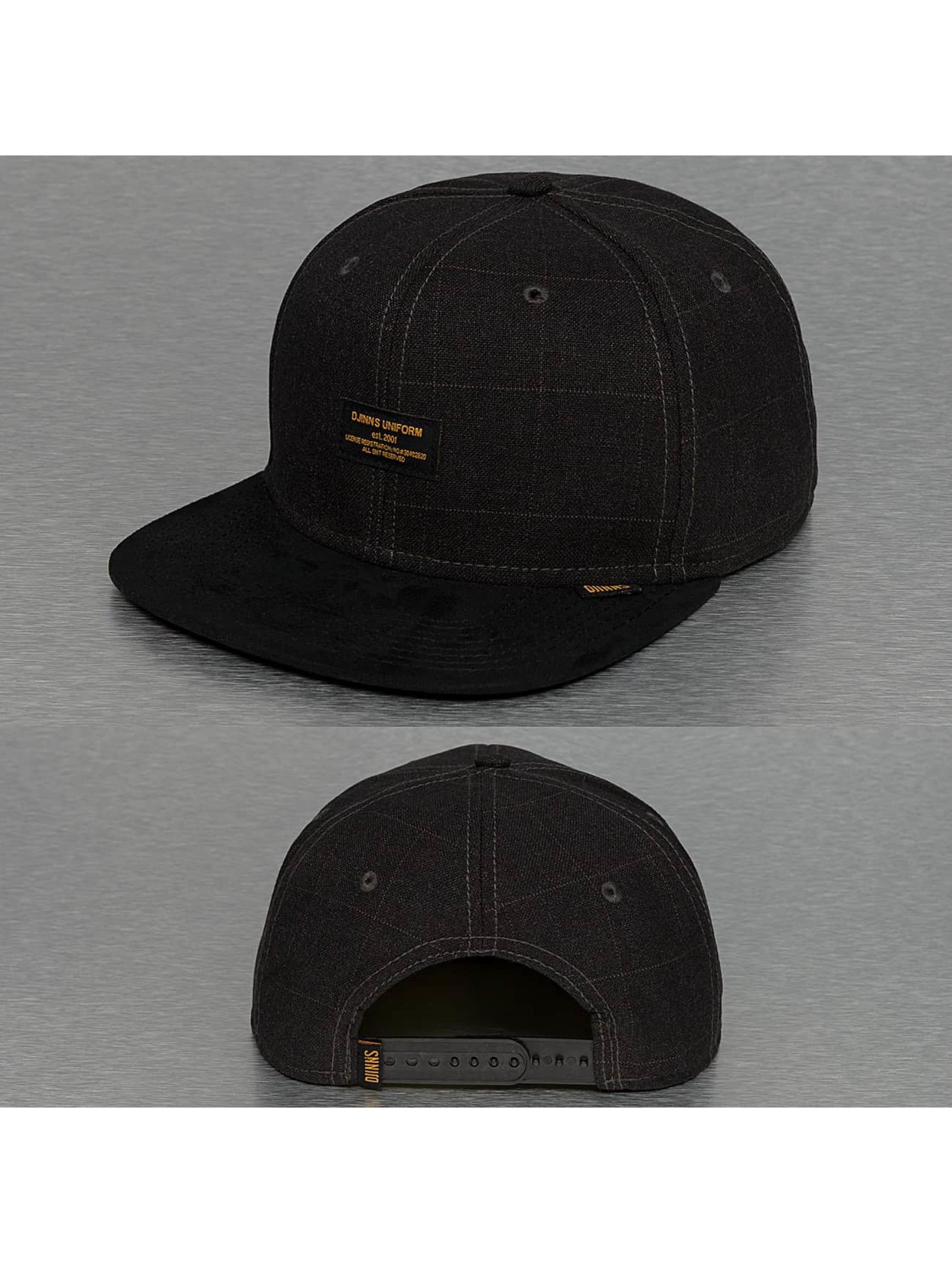 Djinns snapback cap Sherlock 6 Panel zwart