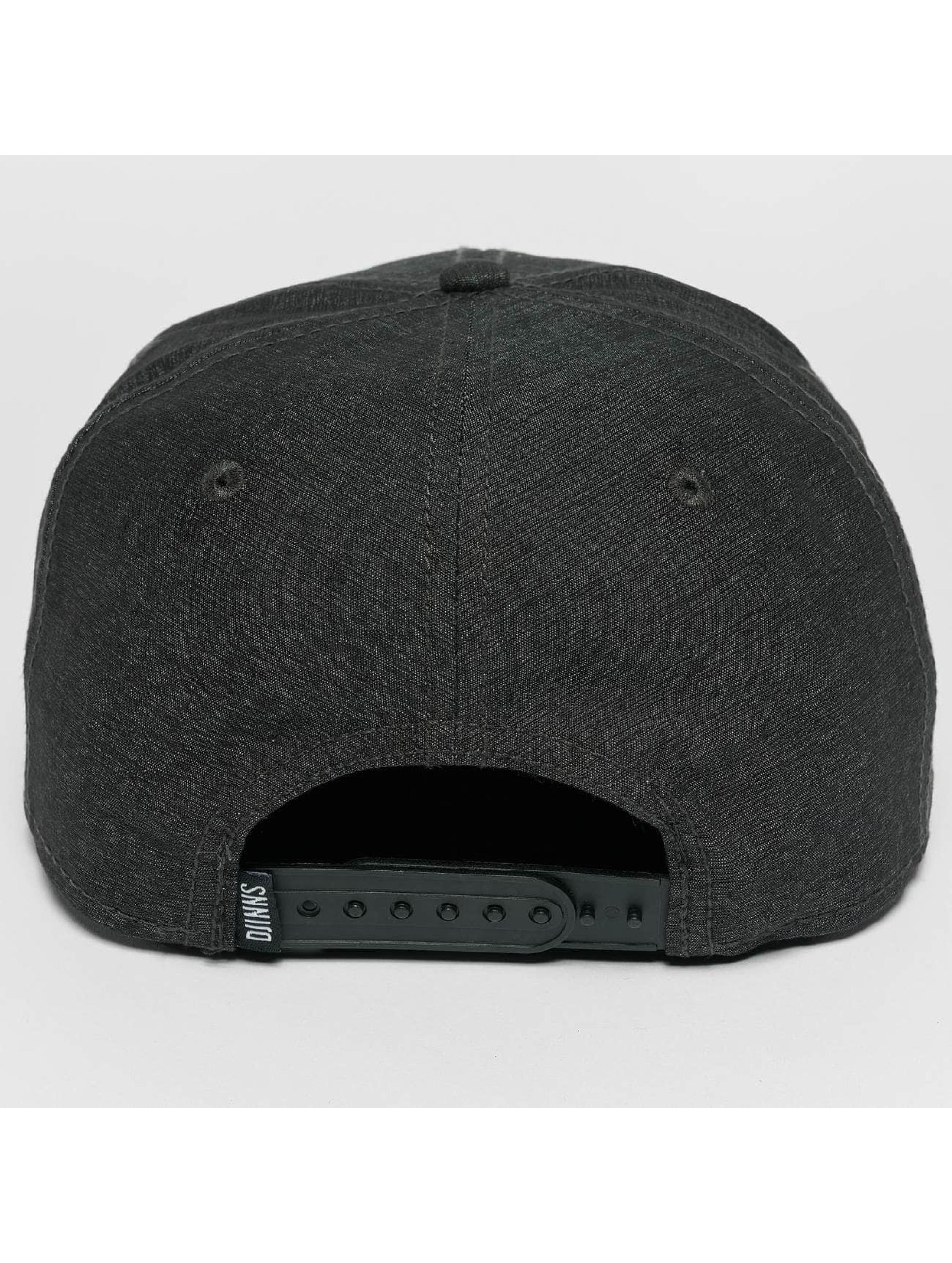 Djinns Snapback Caps Melange Twill čern