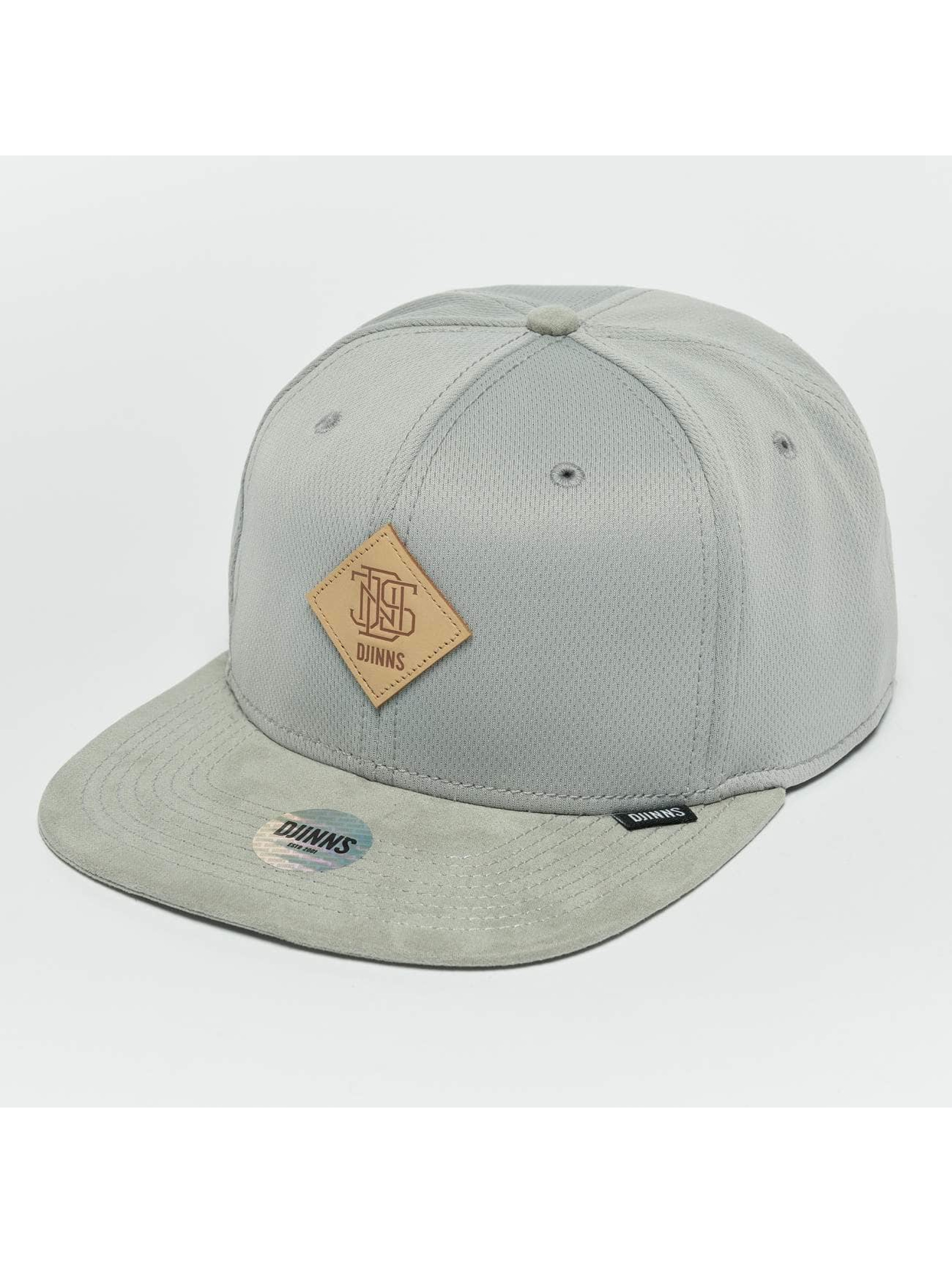 Djinns Snapback Caps Dry Knt šedá
