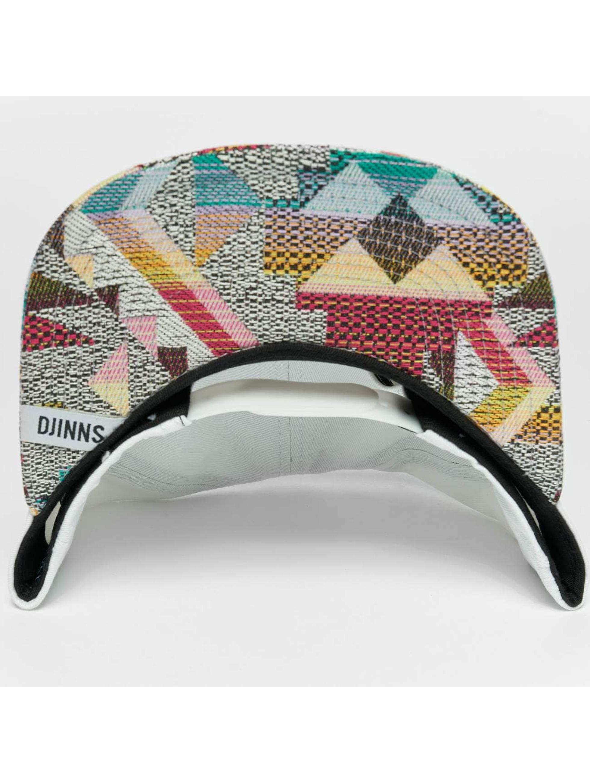 Djinns Snapback Caps Rubber Aztek bialy