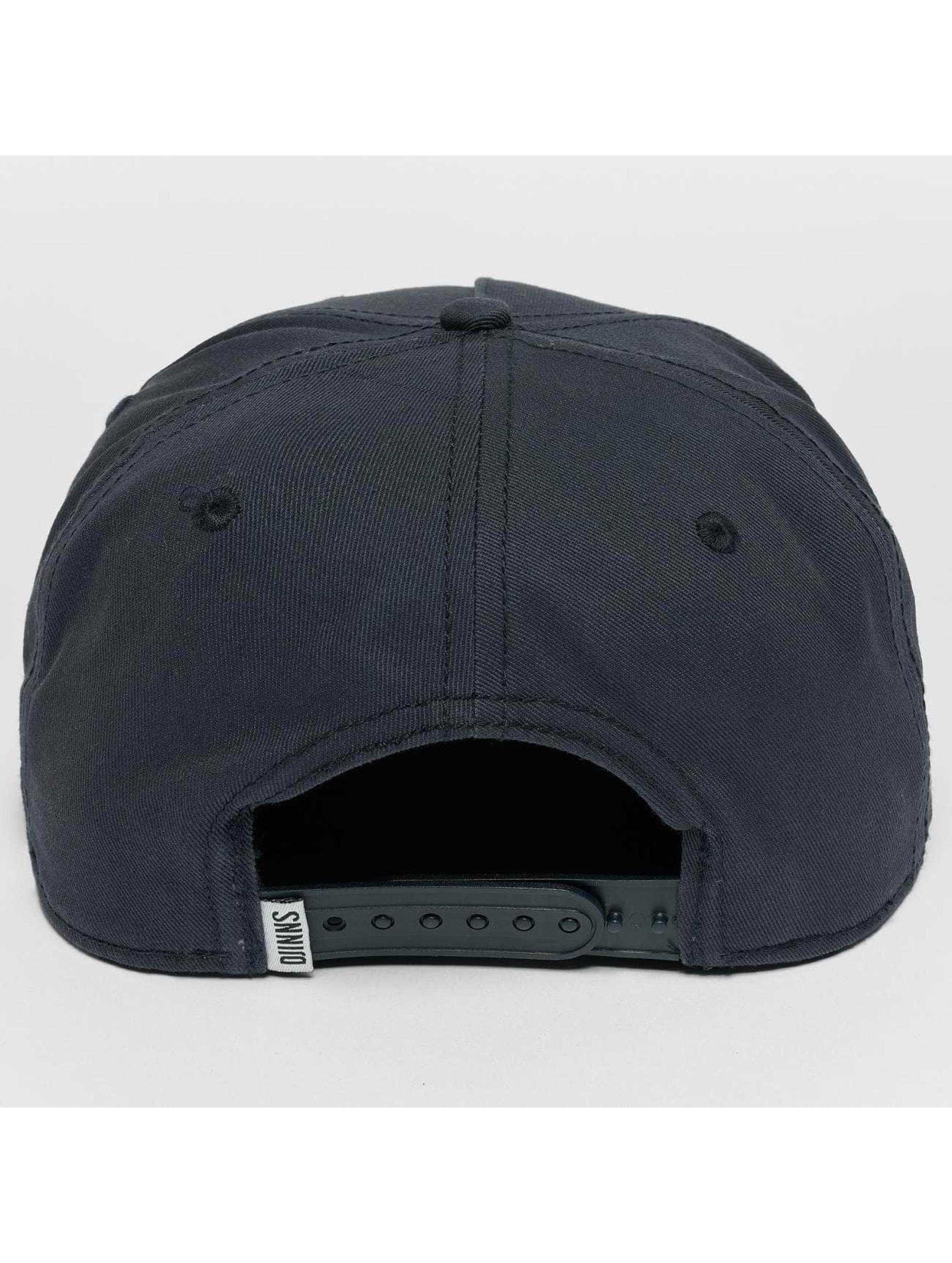 Djinns Snapback Caps Rubber Aztek blå