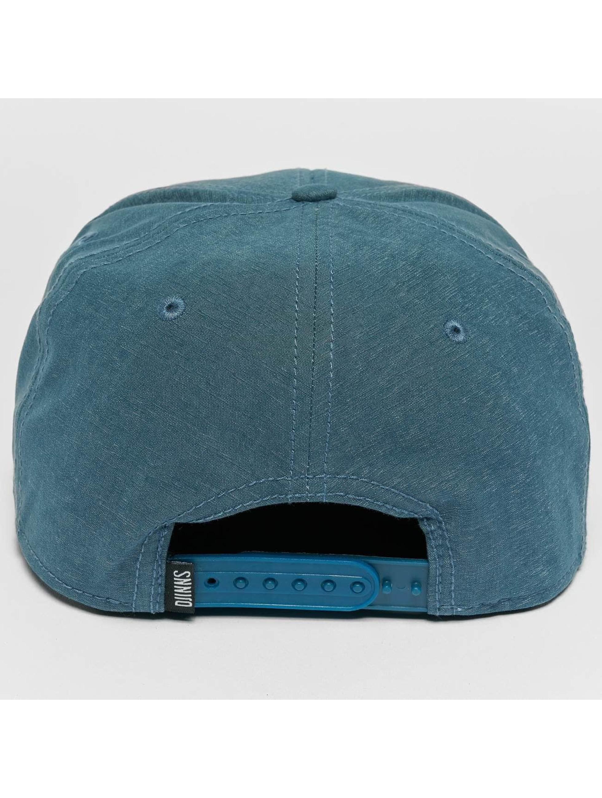 Djinns Snapback Caps Melange Twill blå