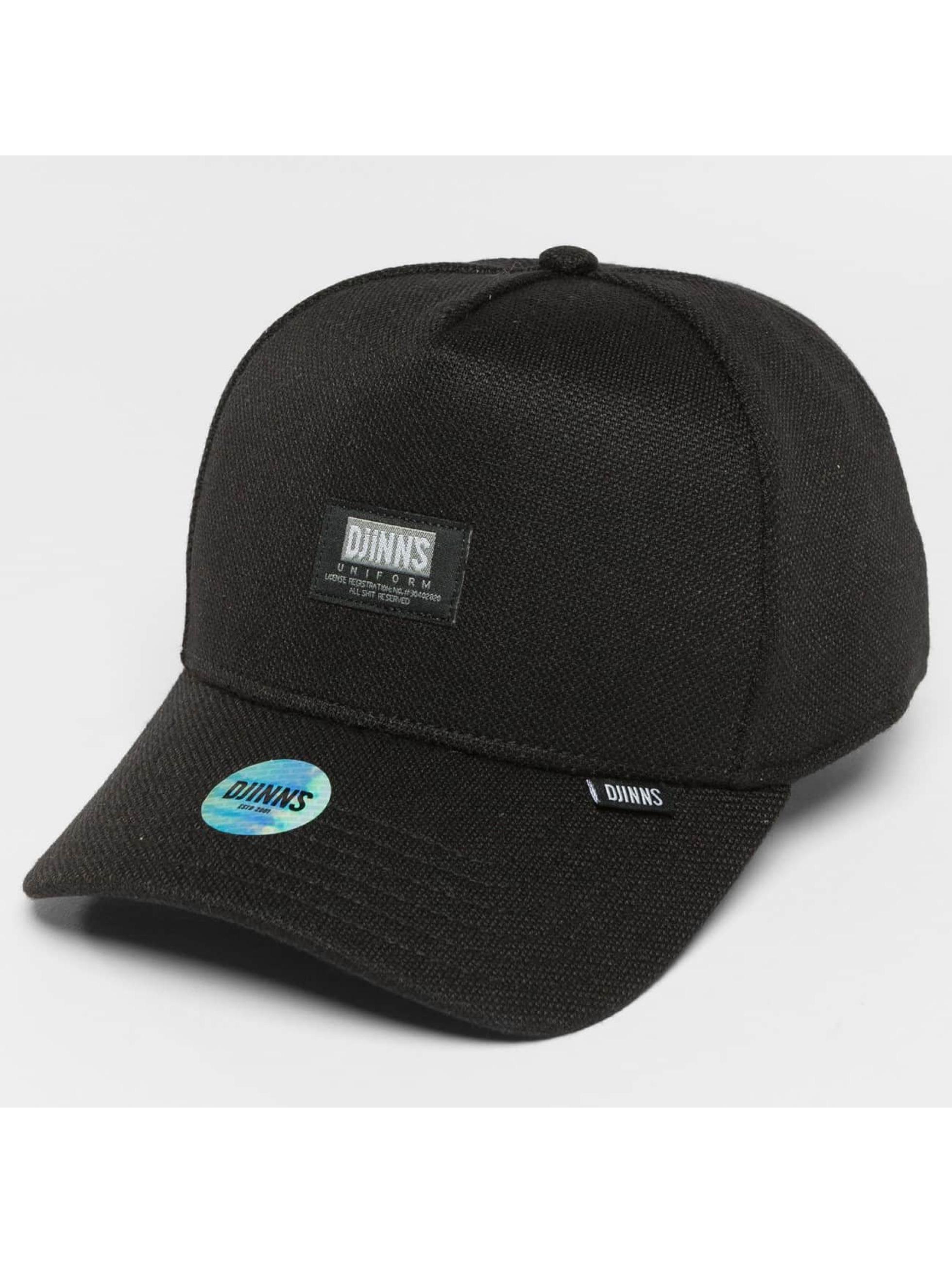 Djinns Snapback Caps HFT Full Bubble Piquee czarny
