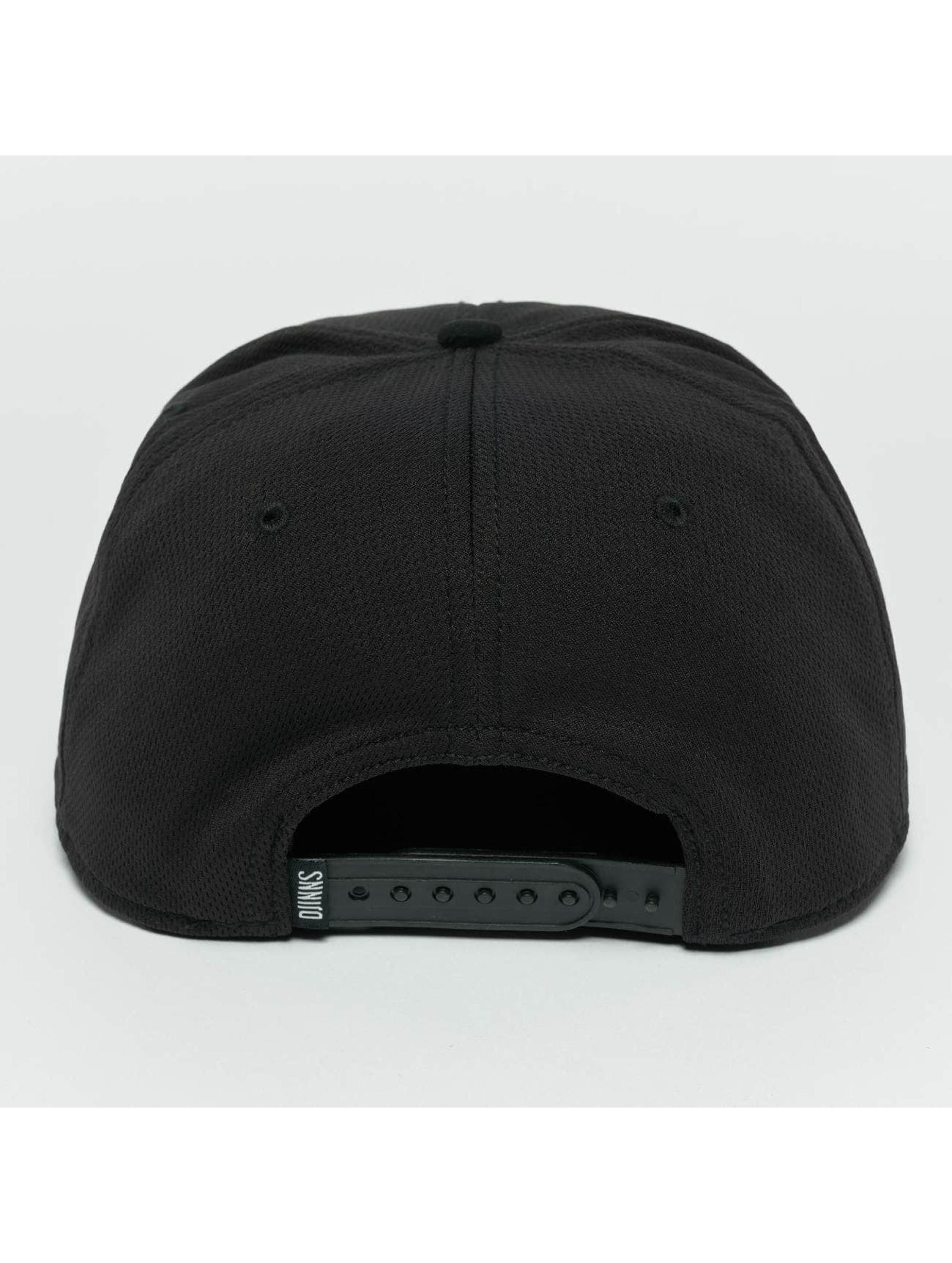 Djinns Snapback Caps Dry Knt czarny