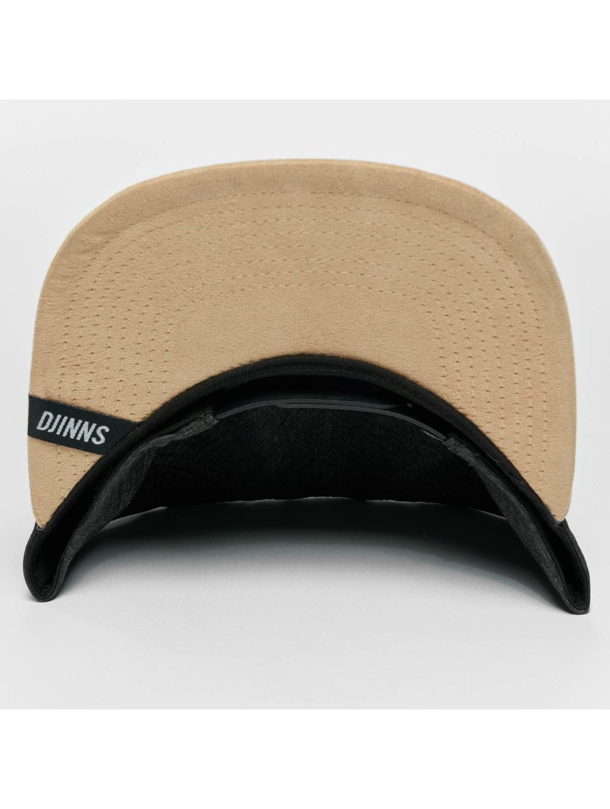 Djinns Snapback Caps Melange Twill czarny