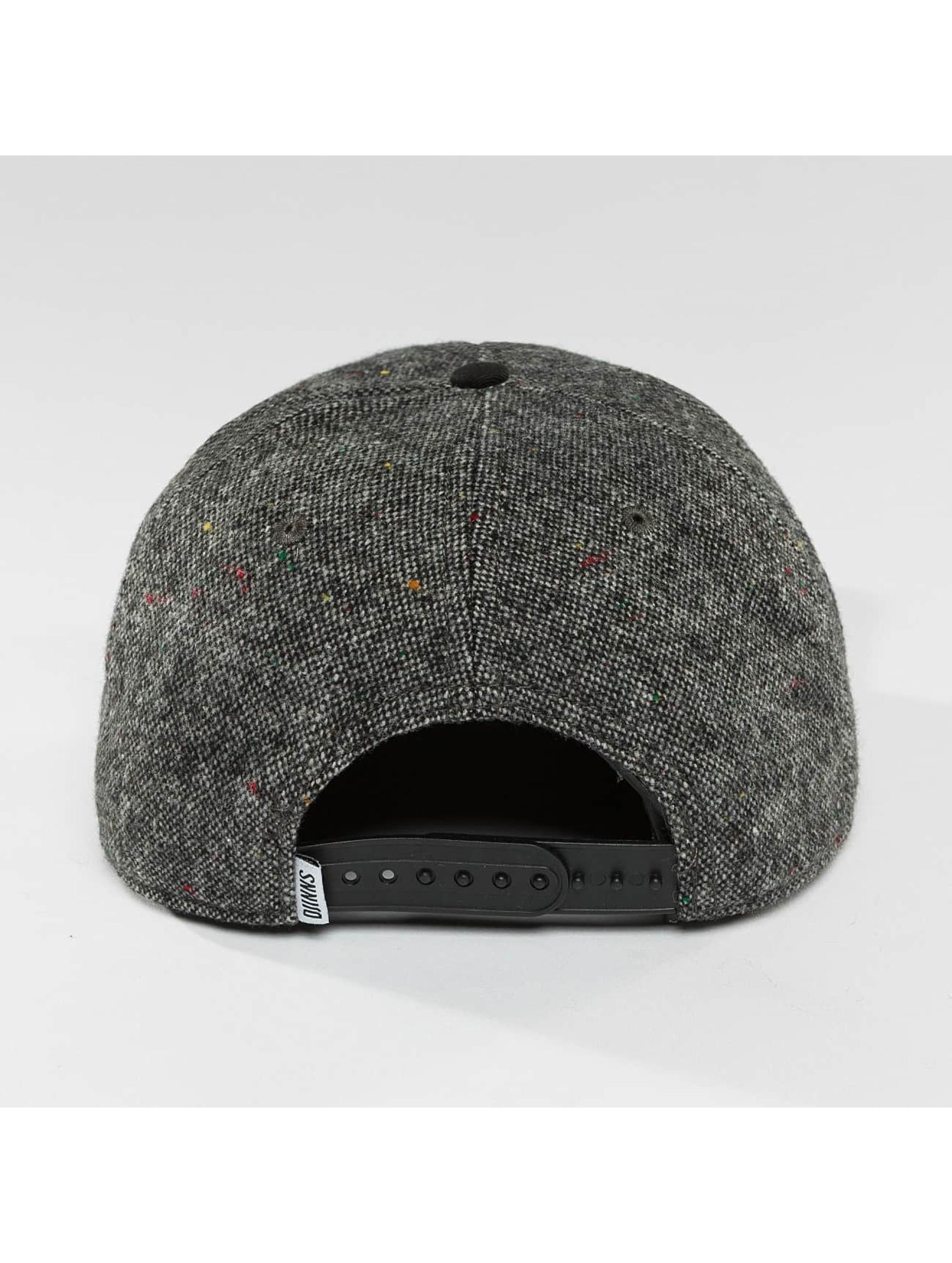 Djinns Snapback Caps 5 Panel Fel Rubber harmaa