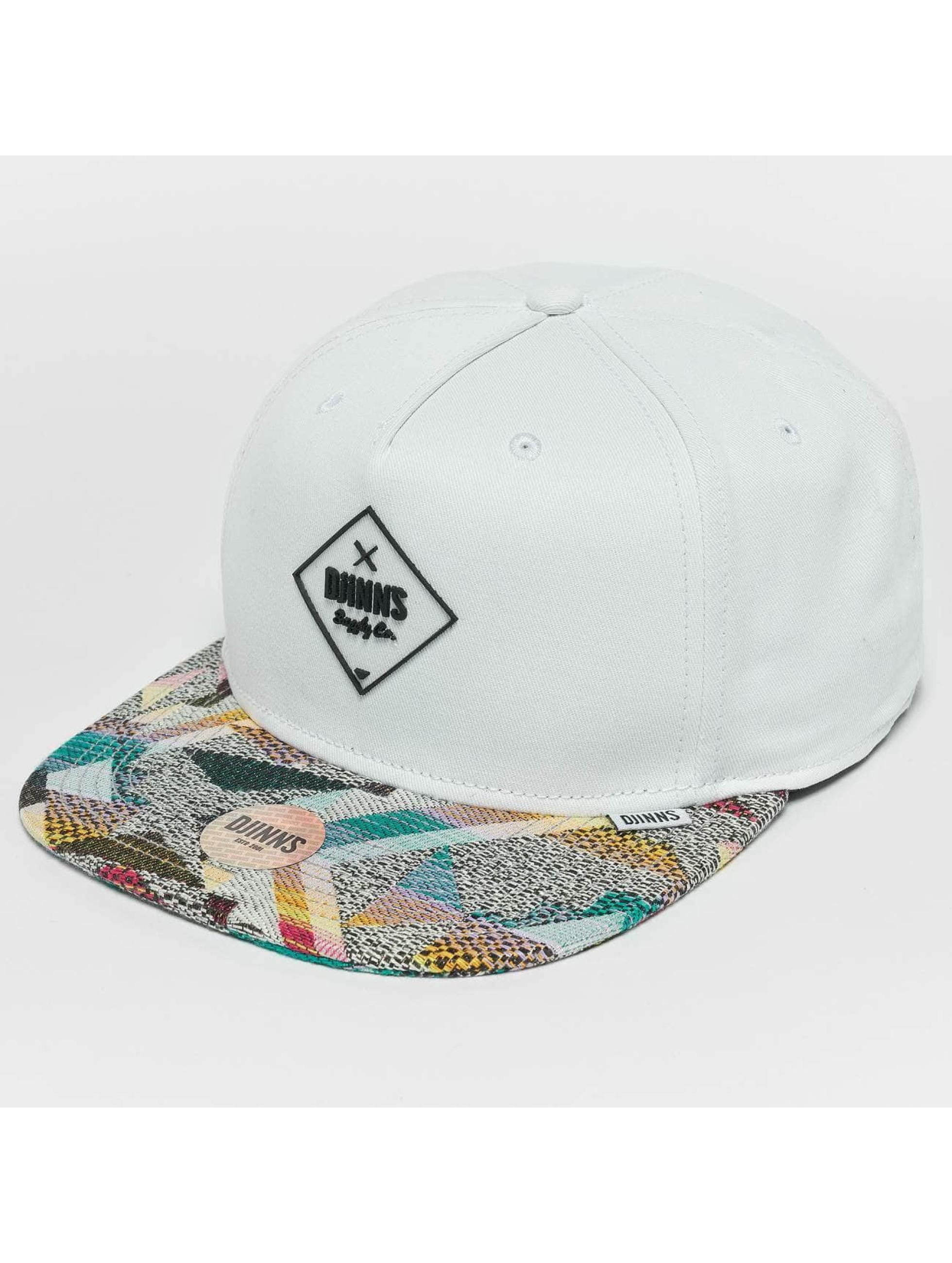 Djinns Snapback Caps Rubber Aztek hvid