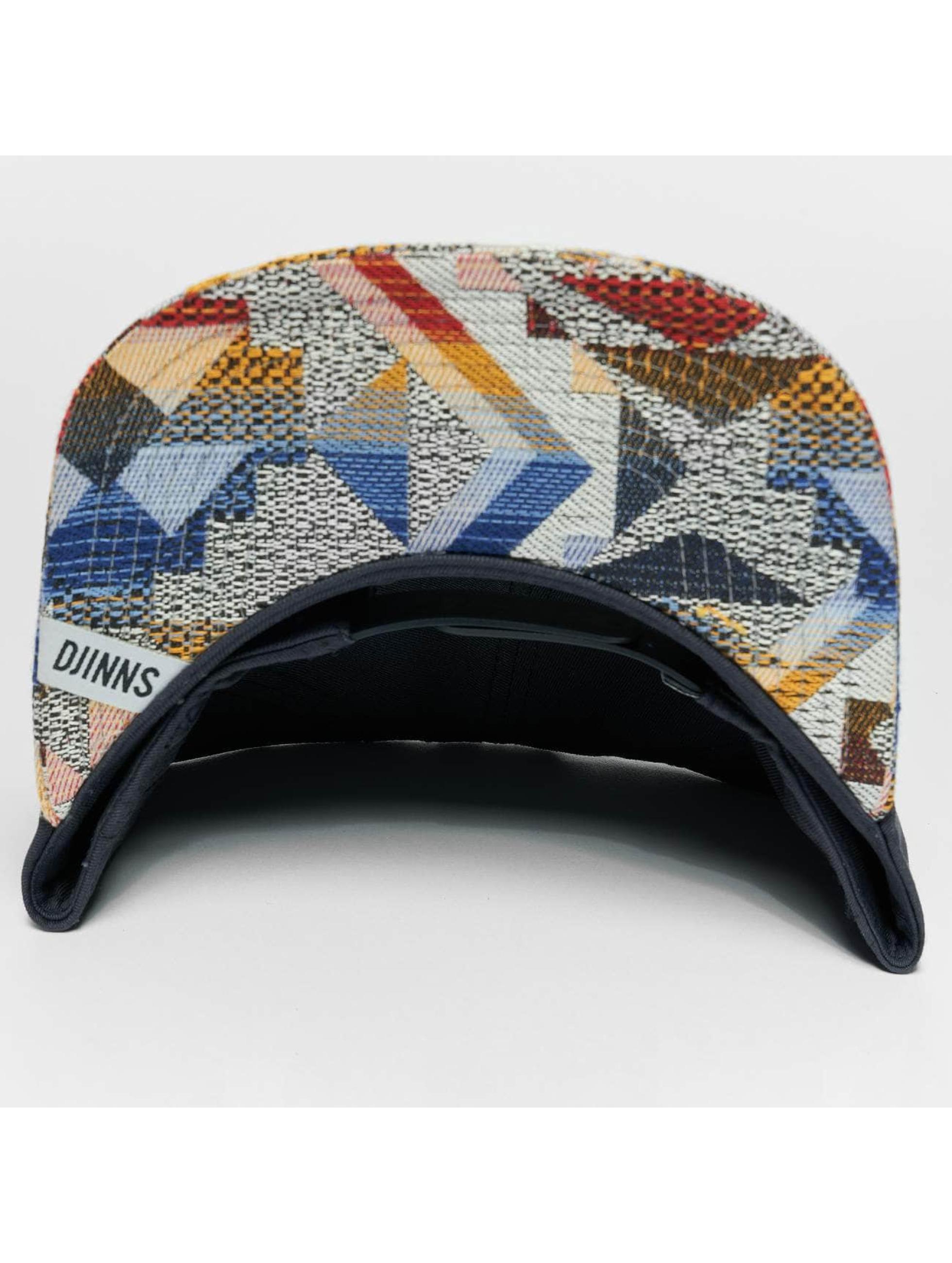 Djinns Snapback Caps Rubber Aztek modrý