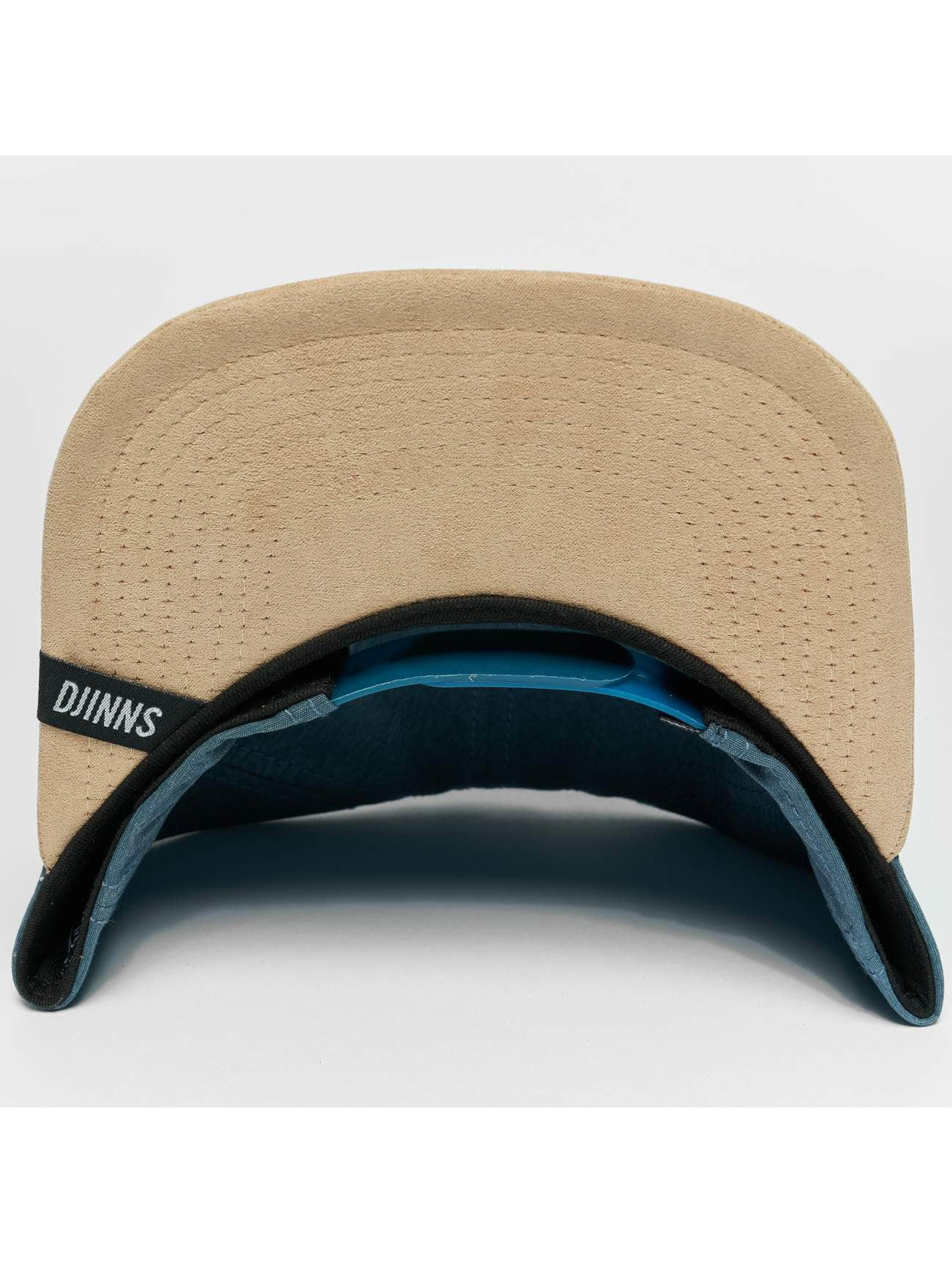 Djinns Snapback Caps Melange Twill modrý