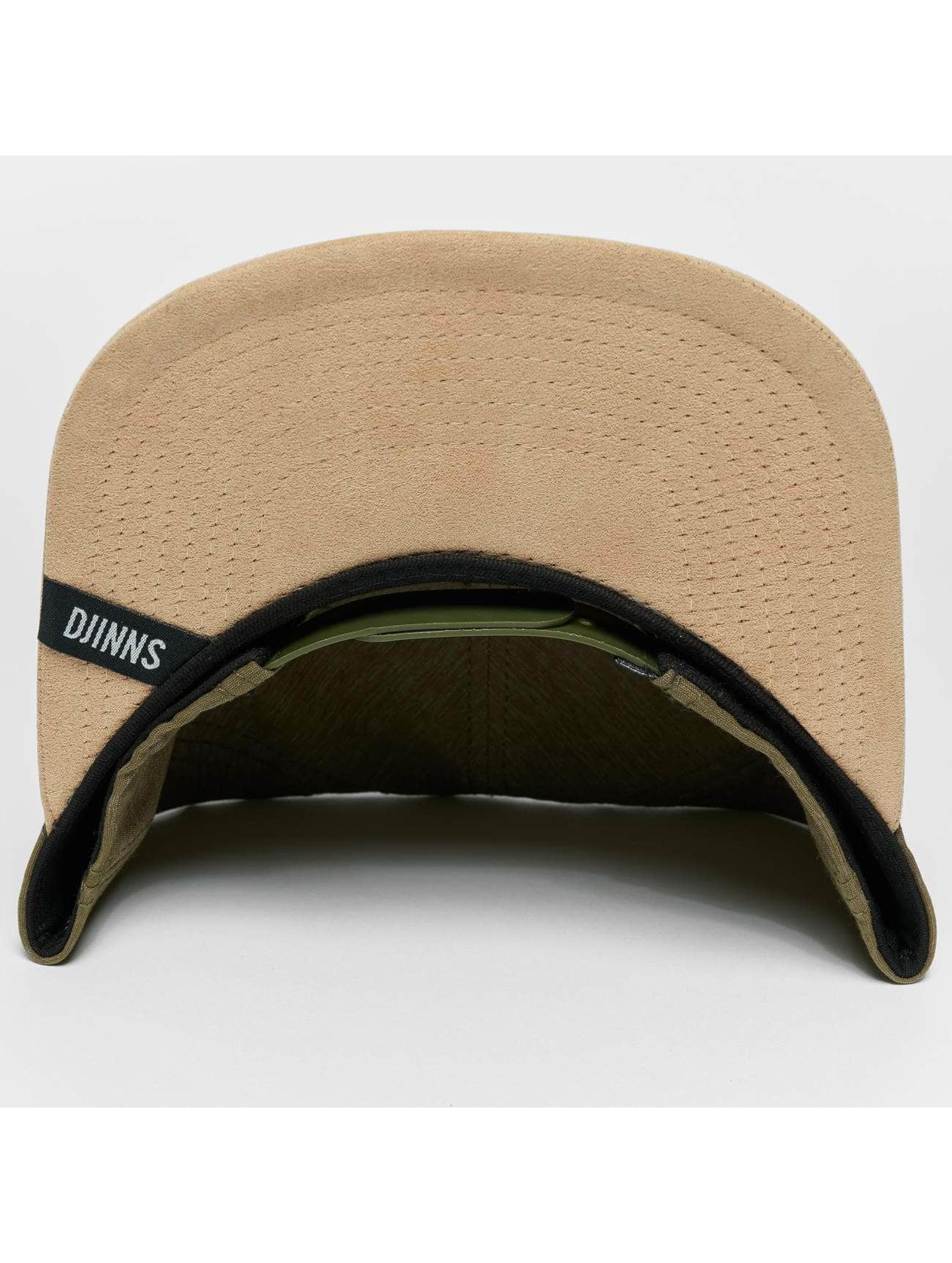 Djinns Snapback Caps Melange Twill oliven