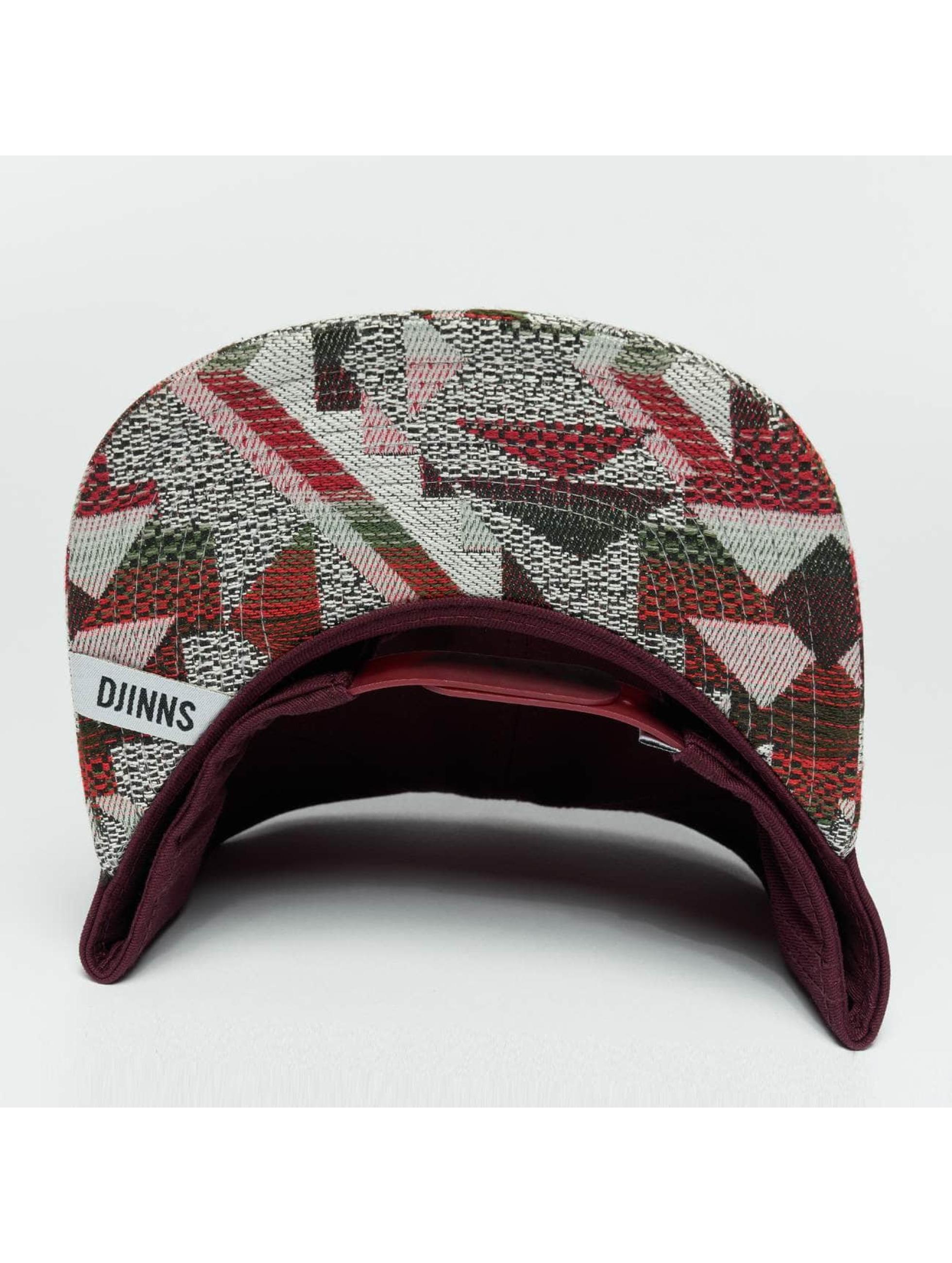 Djinns Snapback Caps Rubber Aztek punainen