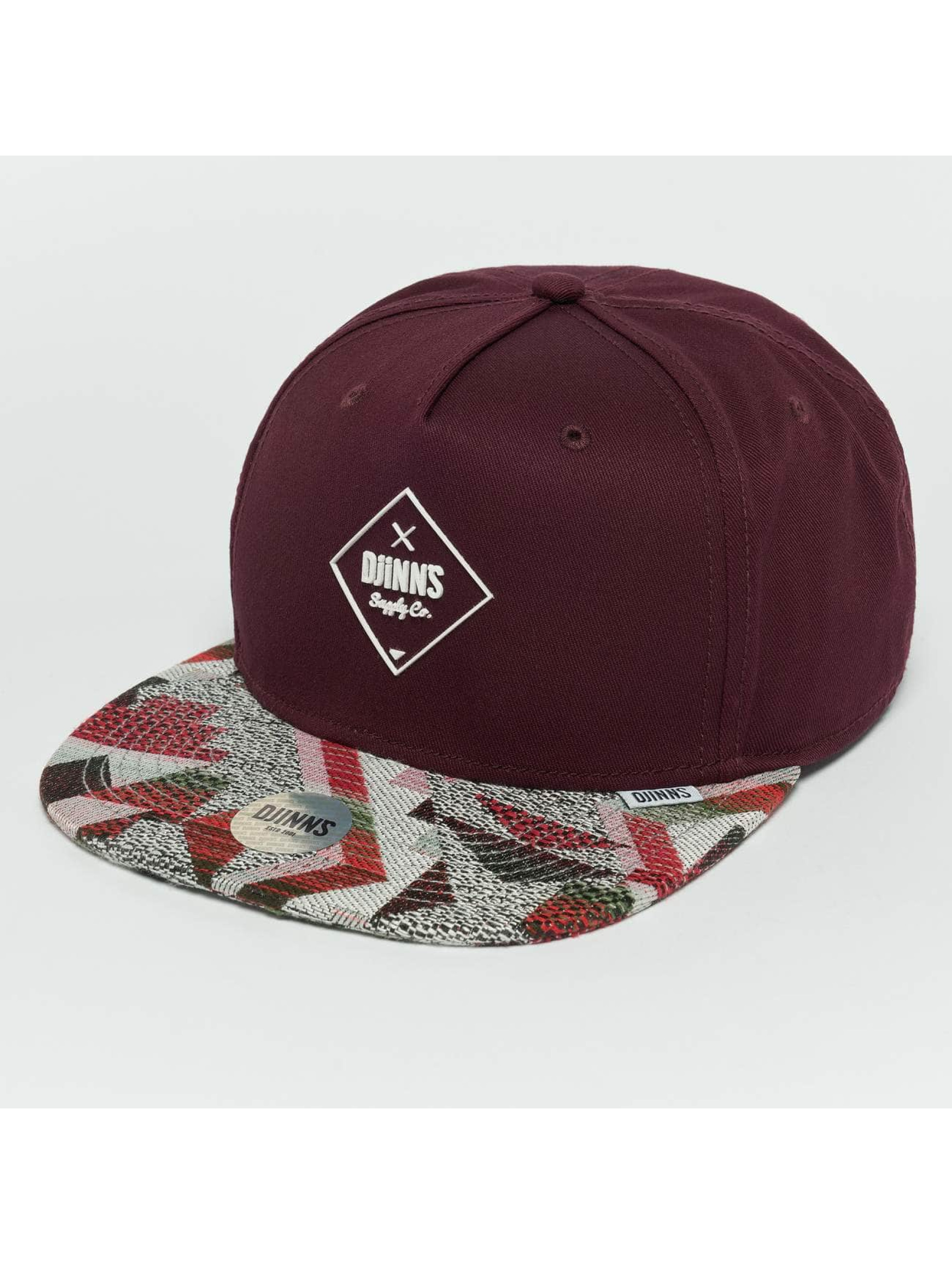 Djinns Snapback Caps Rubber Aztek rød
