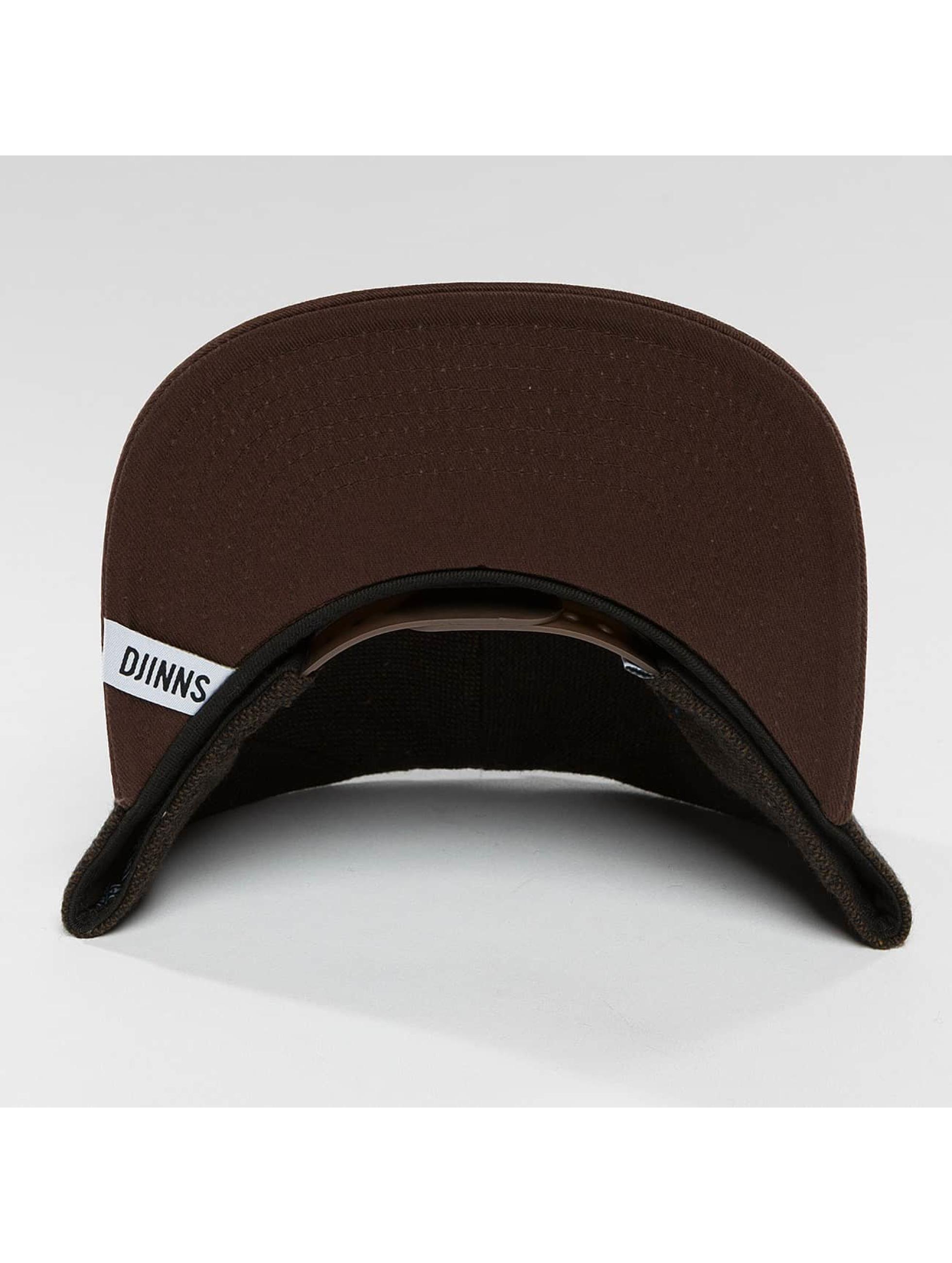 Djinns Snapback Caps 5 Panel Fel Rubber ruskea