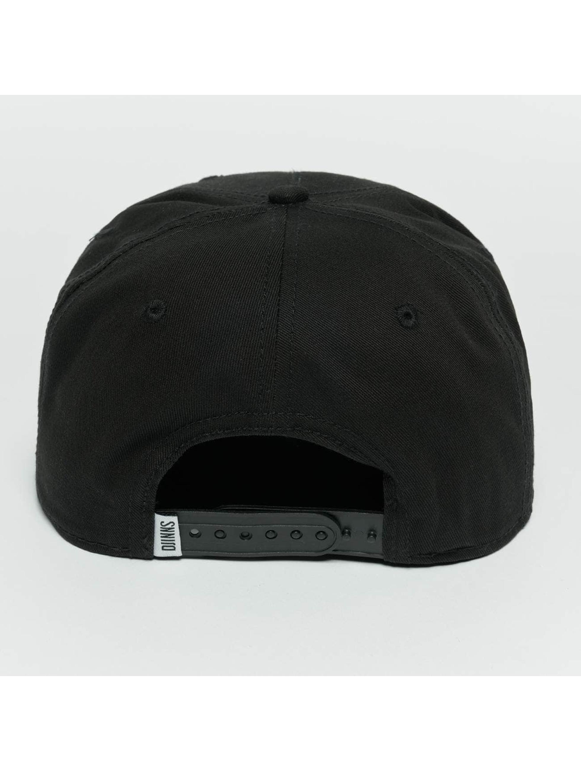 Djinns Snapback Caps Rubber Aztek svart