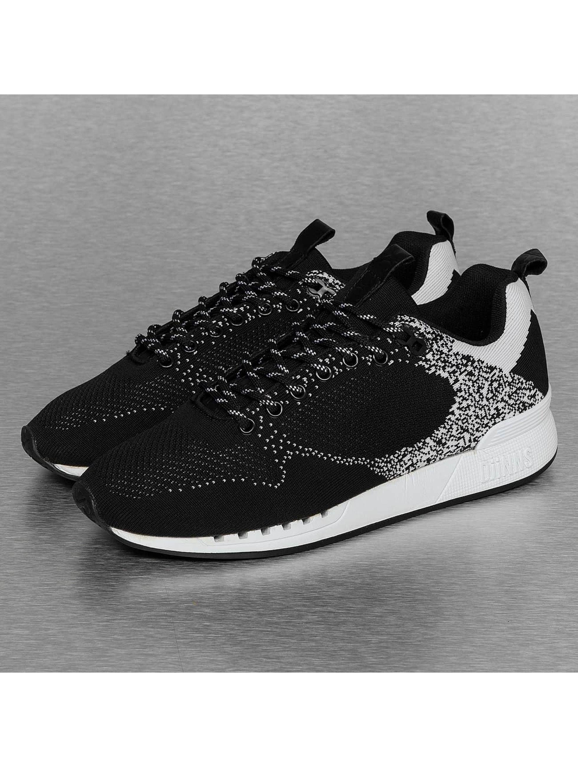 Djinns Sneaker Easy Run Gator Knit schwarz