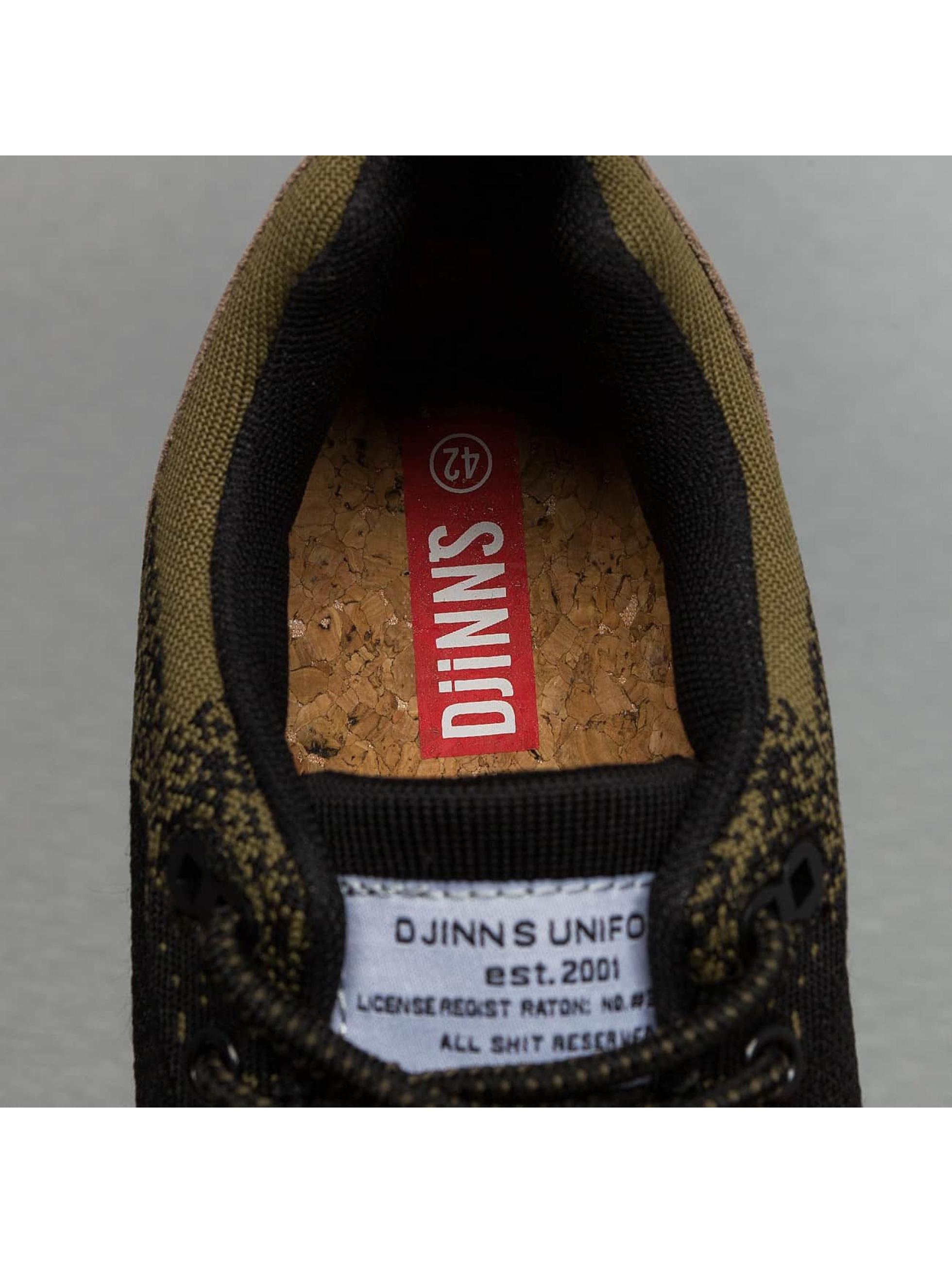 Djinns sneaker Easy Run Gator Knit zwart
