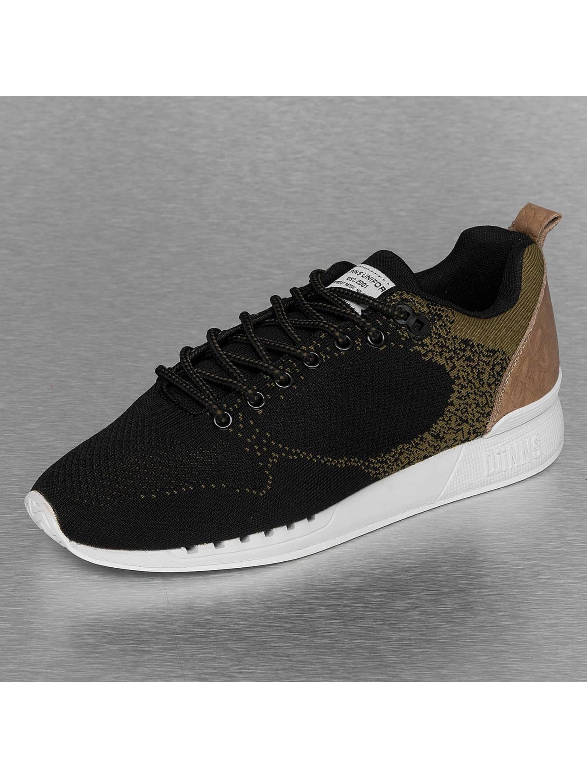 Djinns Sneakers Easy Run Gator Knit svart