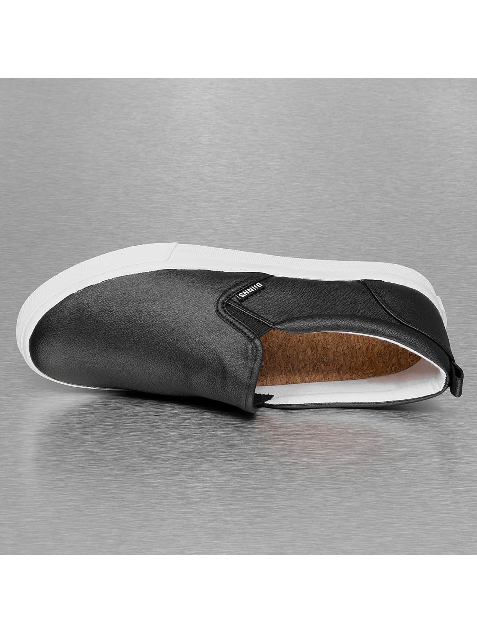Djinns Tennarit Leather Slider musta