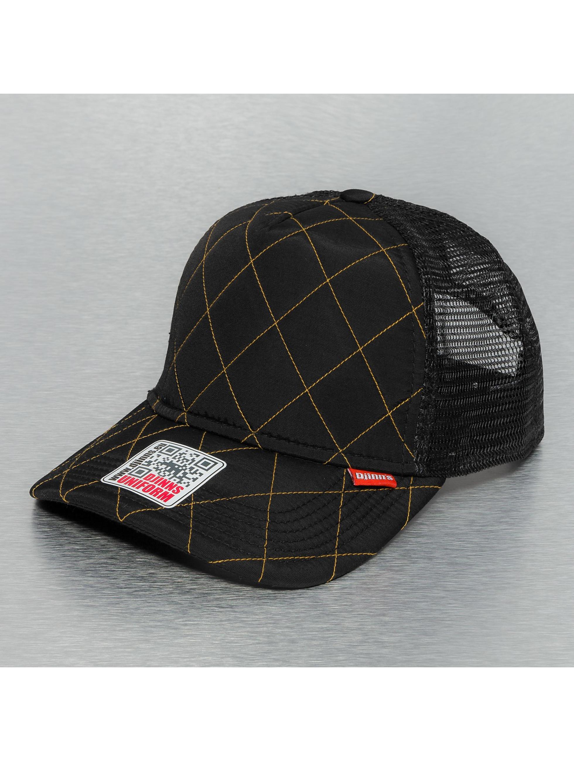 Djinns trucker cap Hunter High Fitted zwart