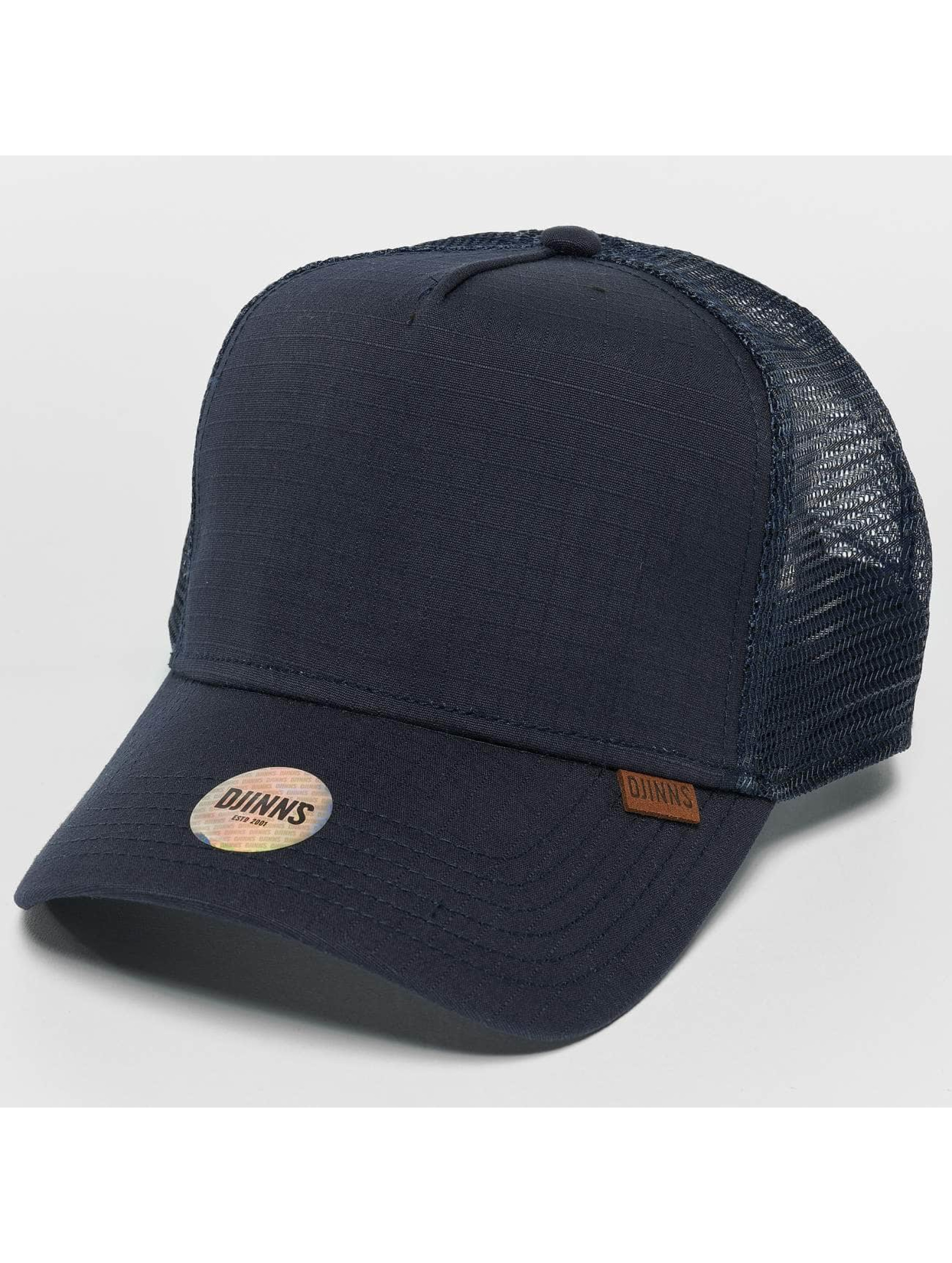 Djinns Trucker Caps M-Rib Stop High blå