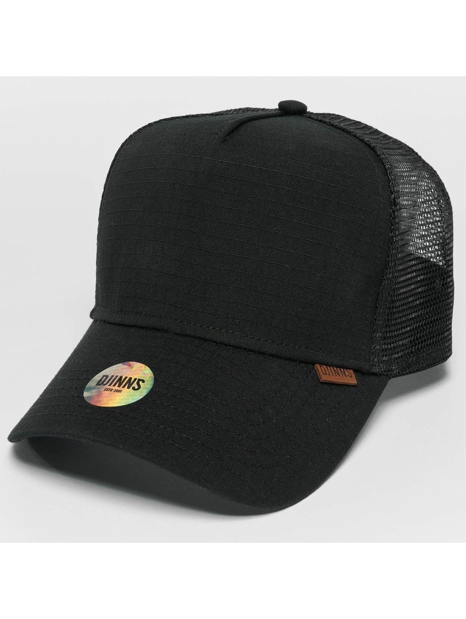 Djinns Trucker Caps M-Rib Stop High czarny
