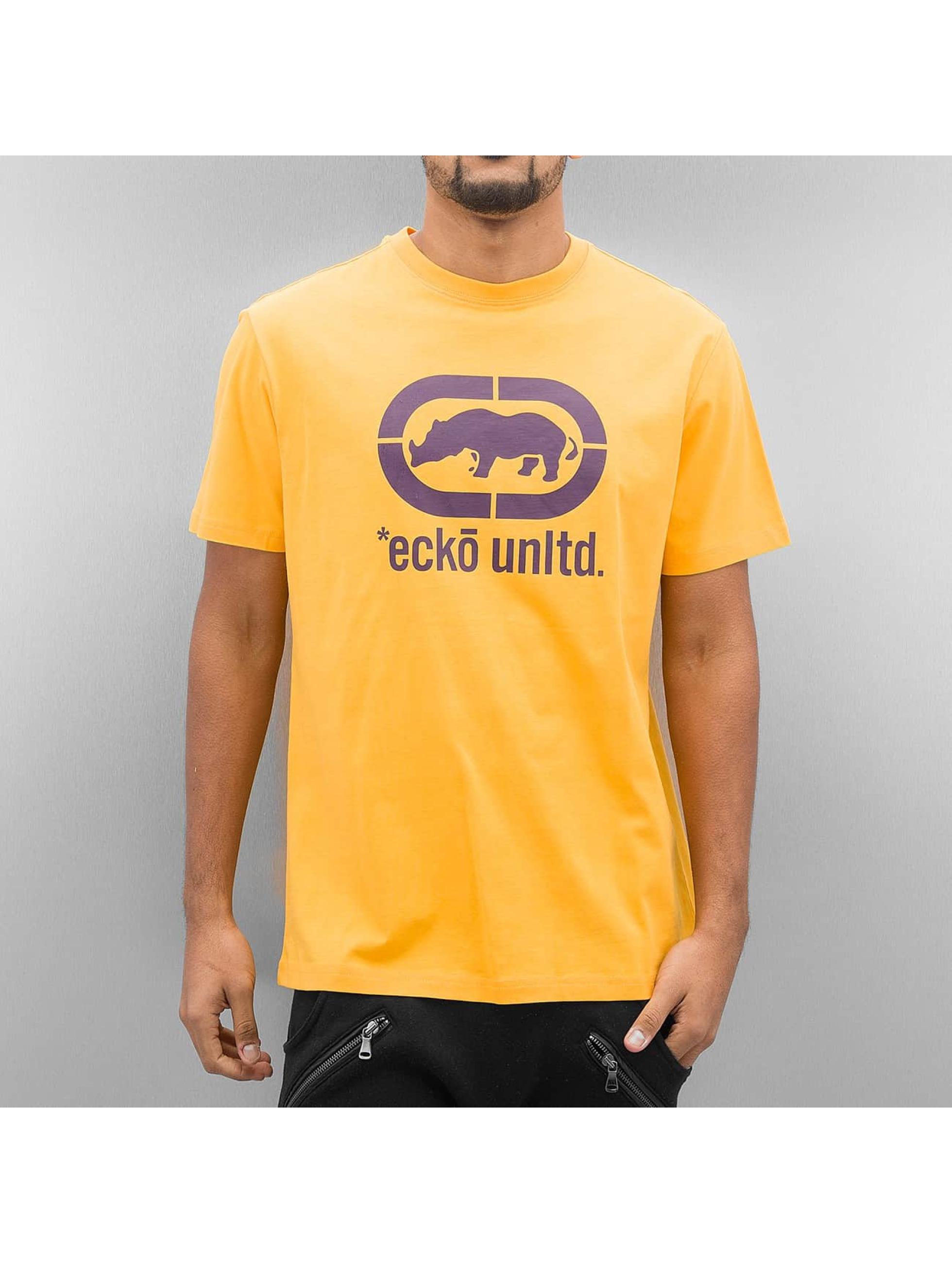 T-Shirt Ecko Unltd. John Rhino en jaune