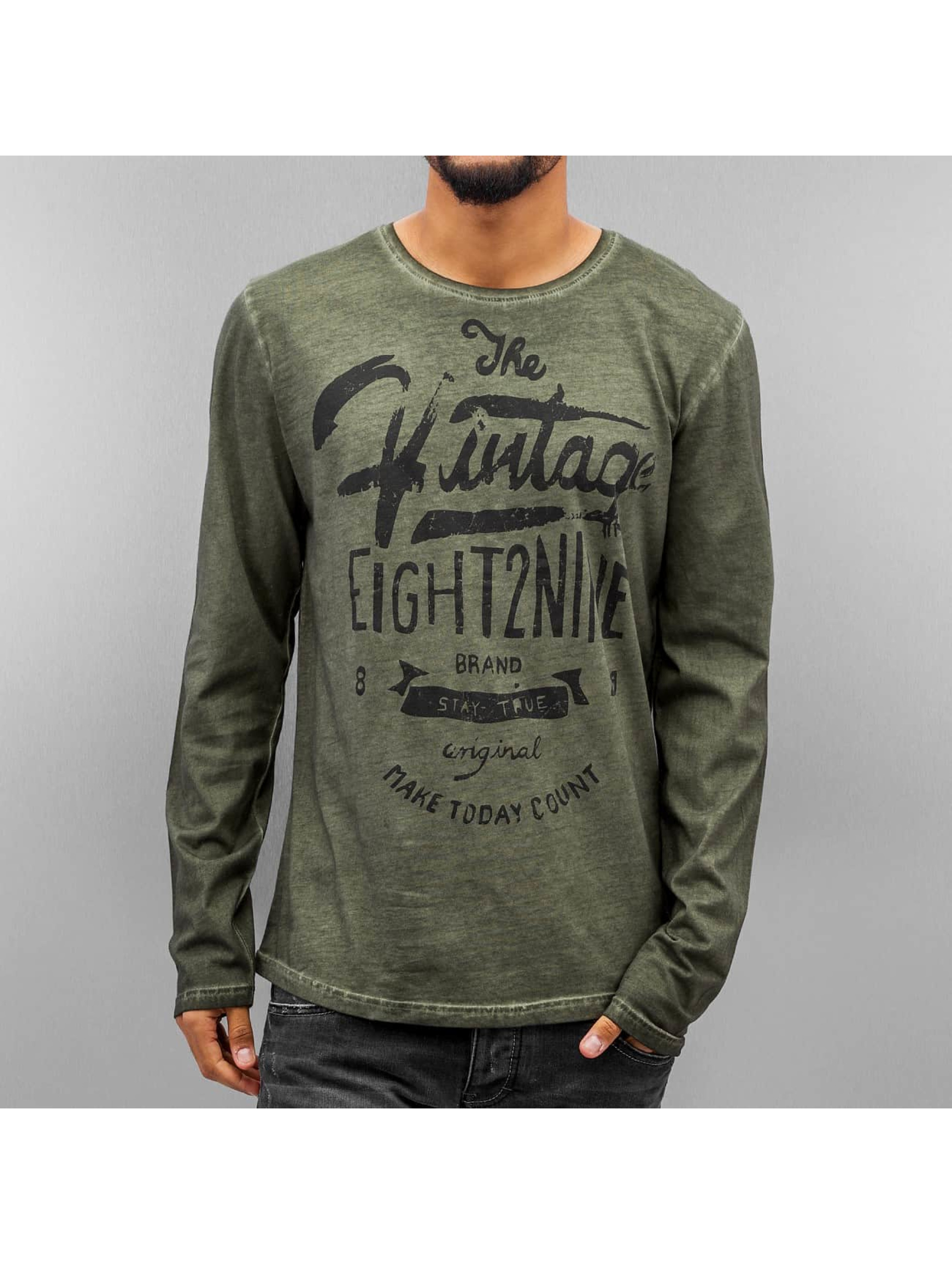 Eight2Nine Longsleeve Stay True olive