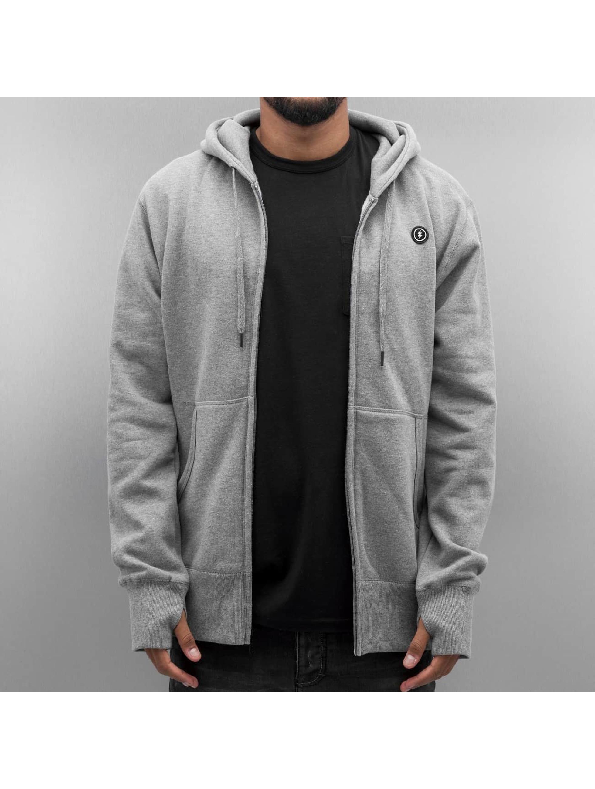 Electric Hoodies con zip VOLT grigio