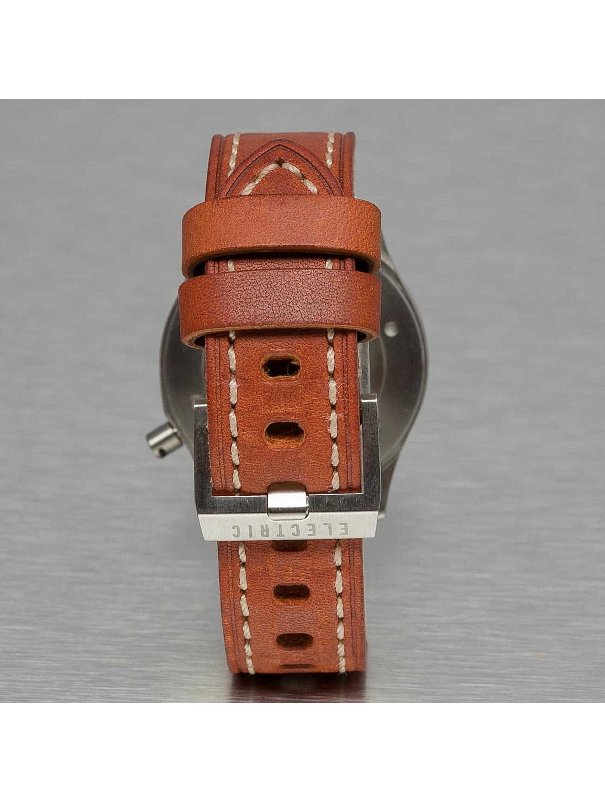 Electric horloge FW03 Leather bruin