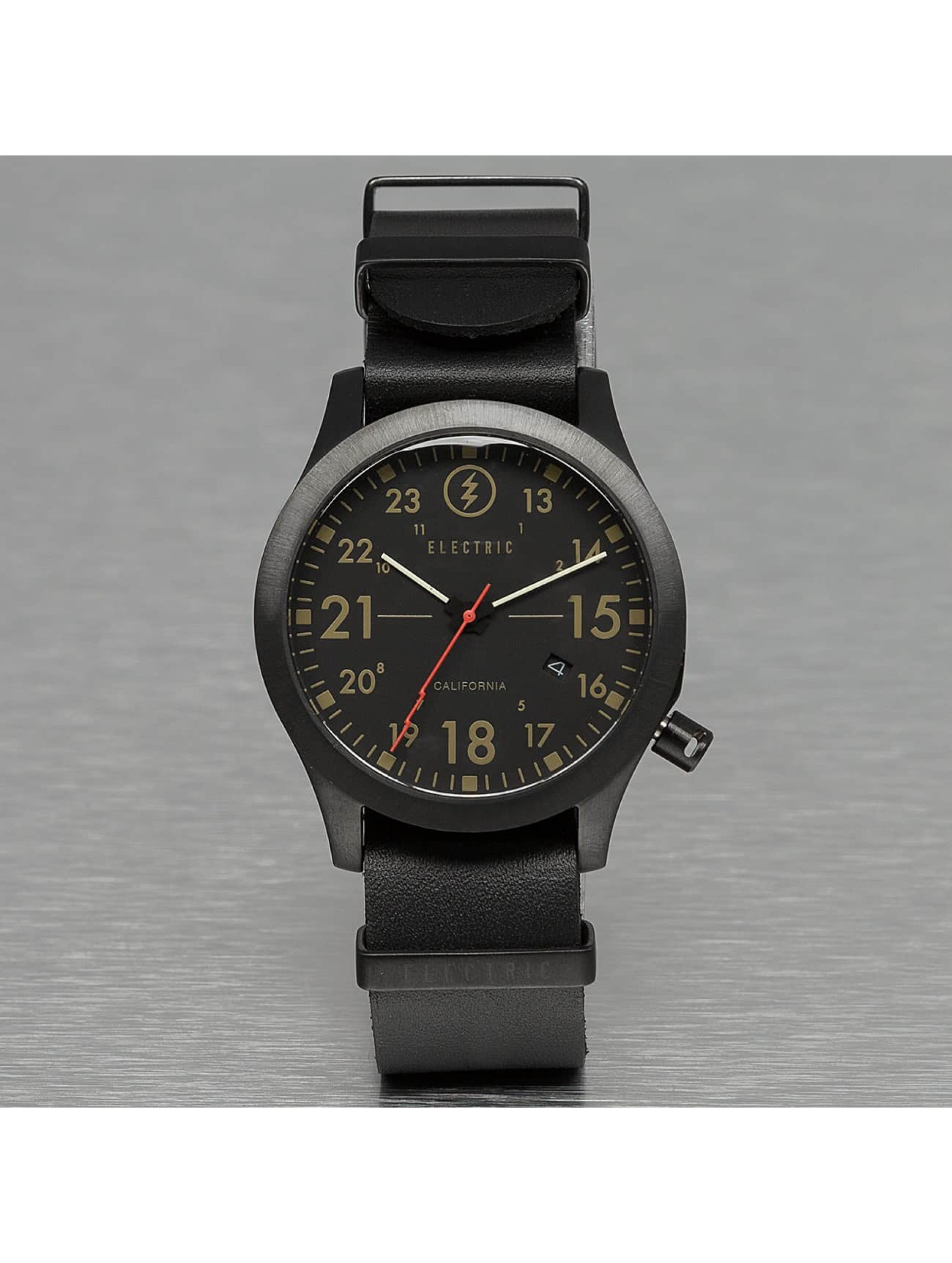 Electric horloge FW01 Leather zwart