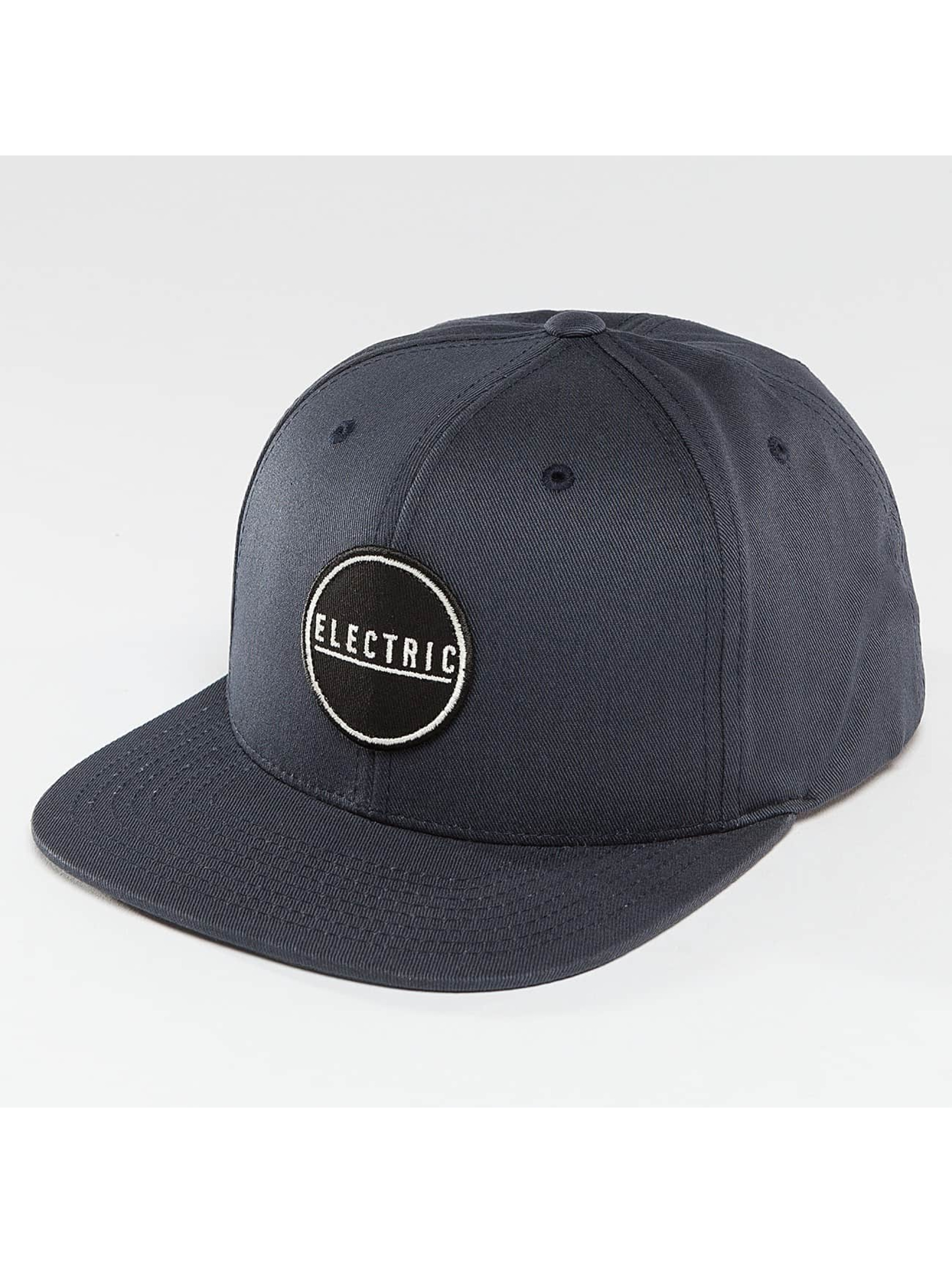 Electric Snapback Cap Rubber Stamp blau