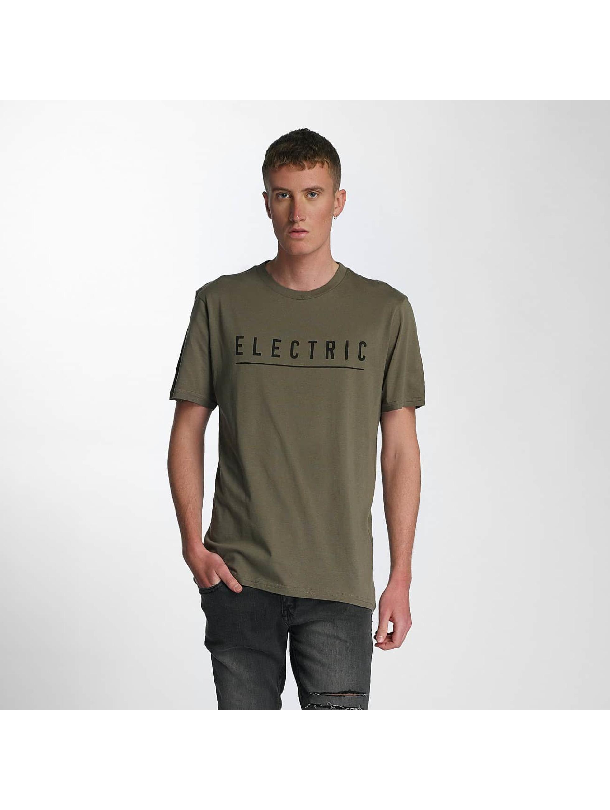 Electric T-Shirty Script oliwkowy