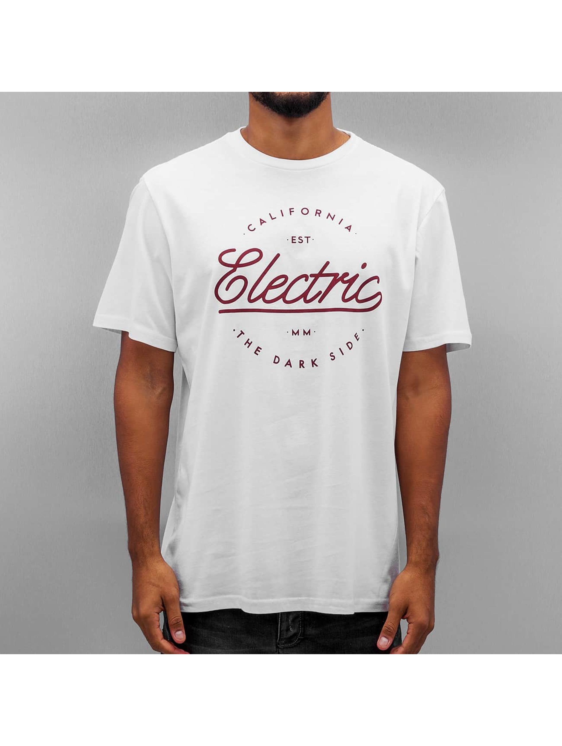 Electric Tričká CIRCLE SCRIP biela