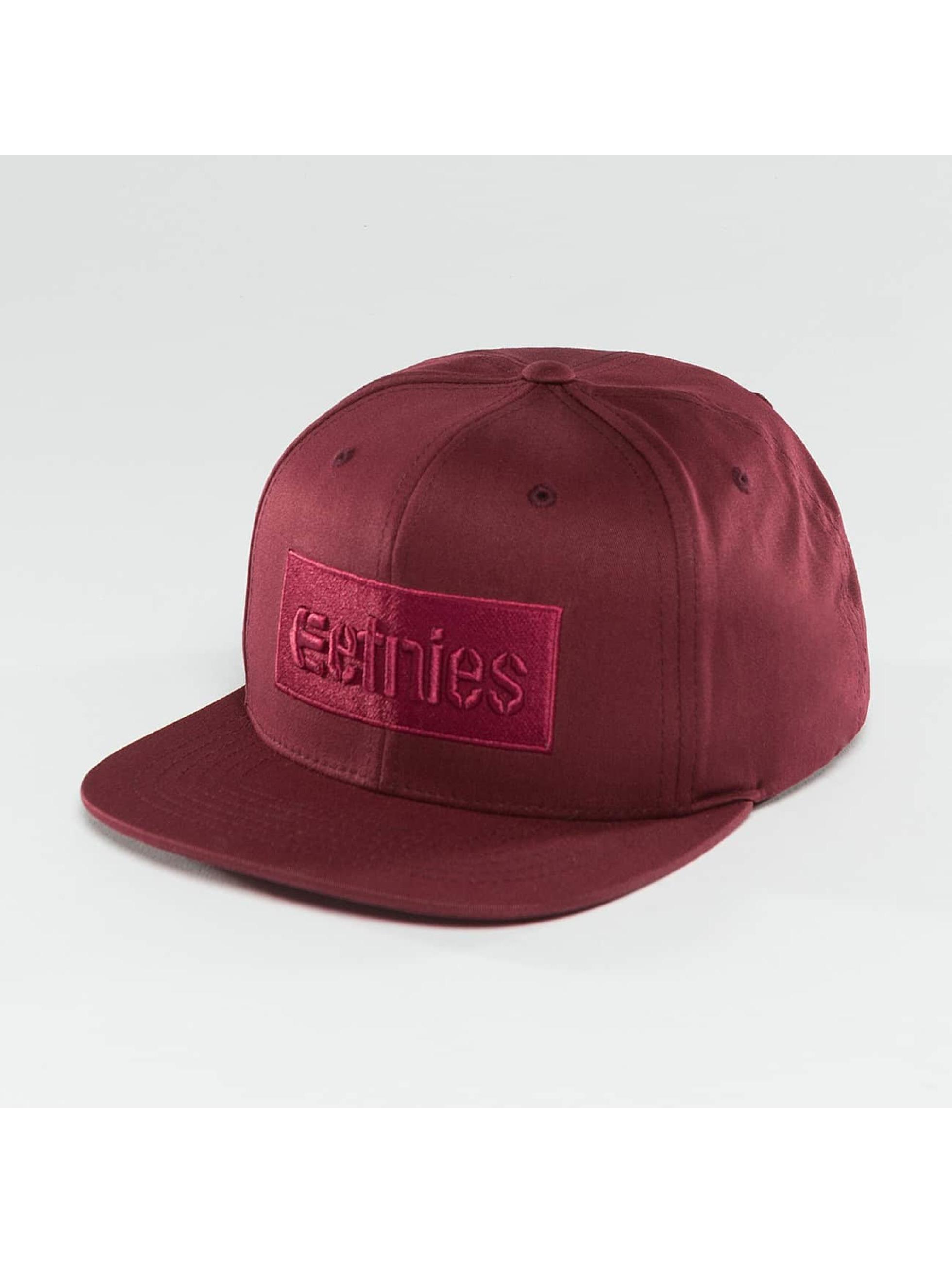 Etnies Snapback Caps Corp Box red