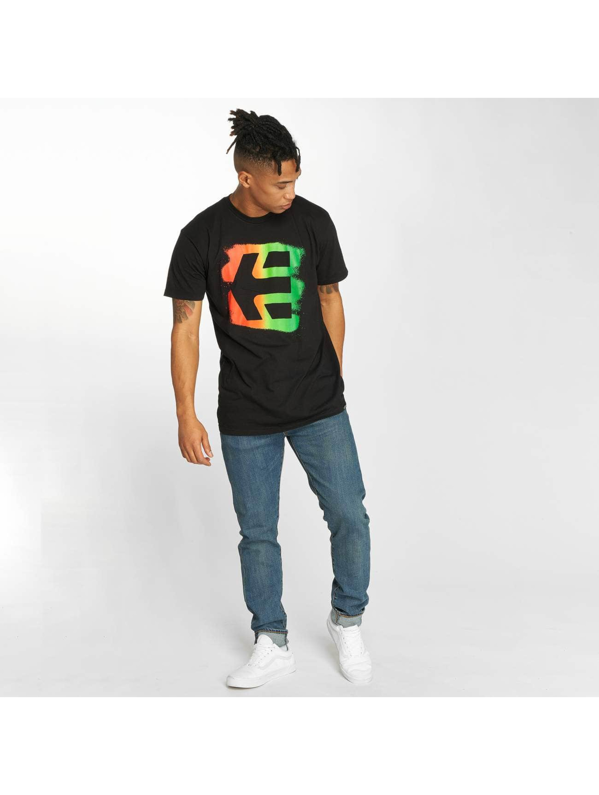 Etnies t-shirt Icon Sprayed zwart