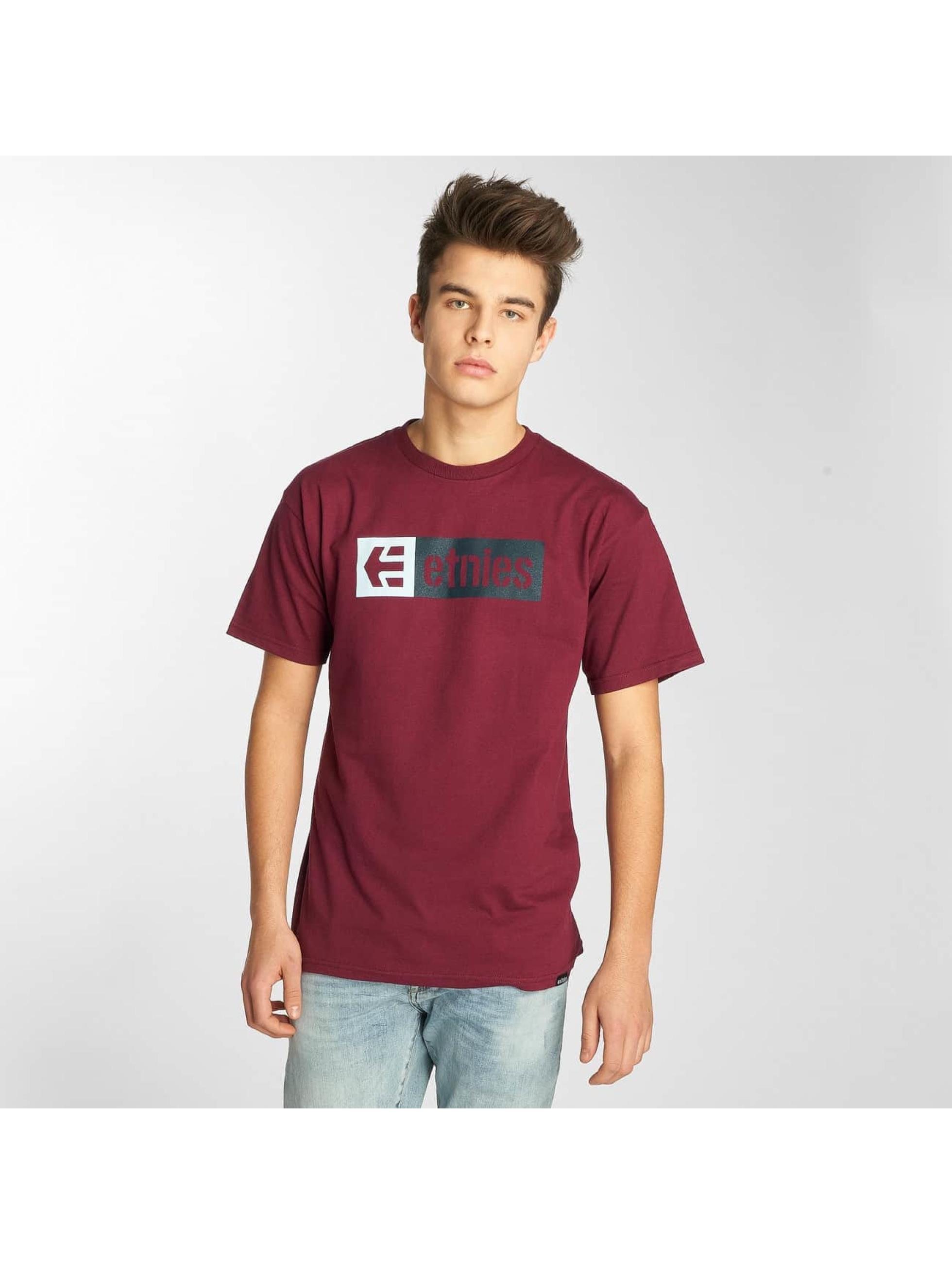Etnies T-Shirty New Box czerwony