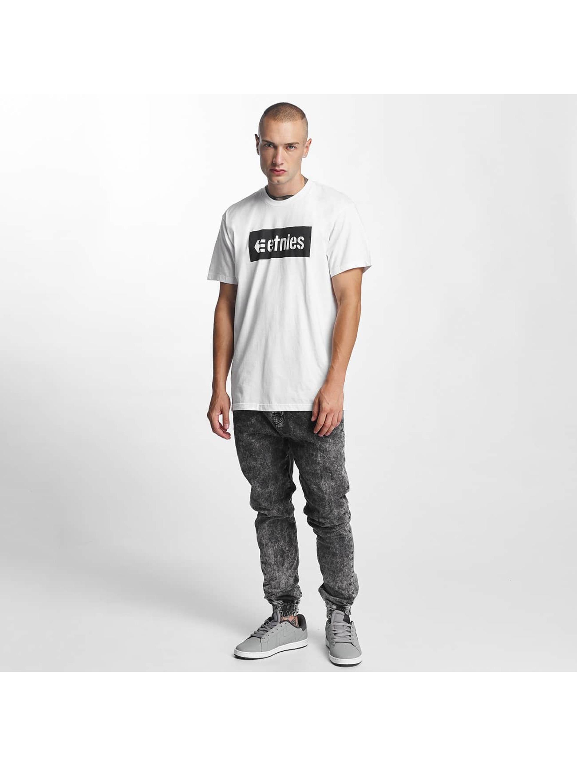 Etnies T-skjorter Corp Box hvit