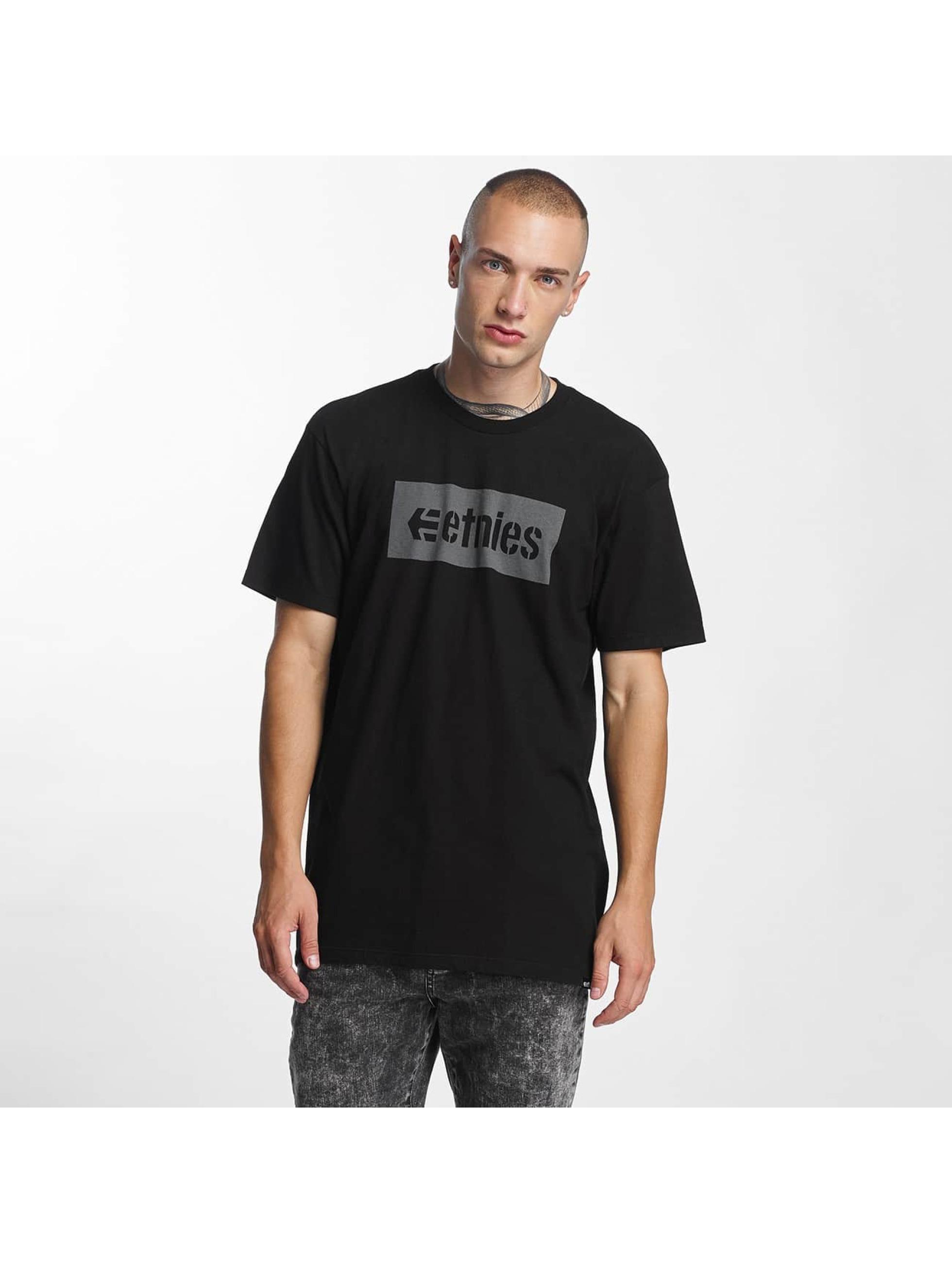 Etnies T-skjorter Corp Box svart