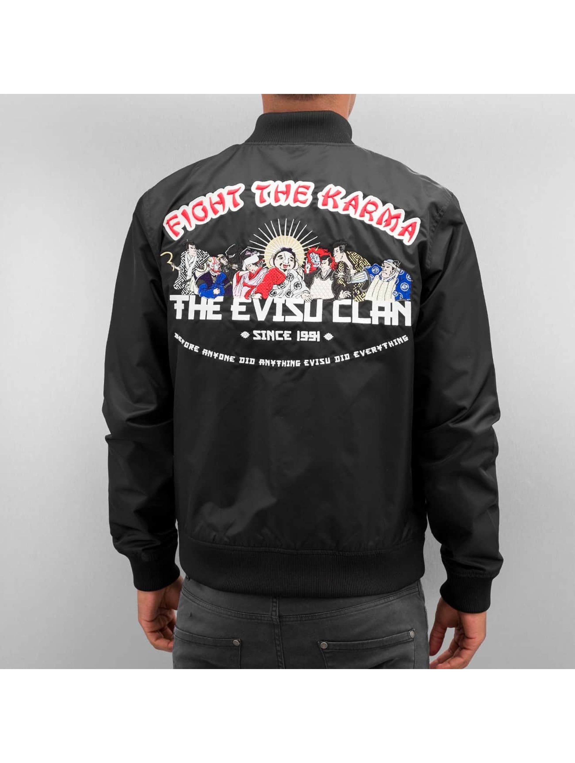 EVISU Демисезонная куртка Fight The Karma черный