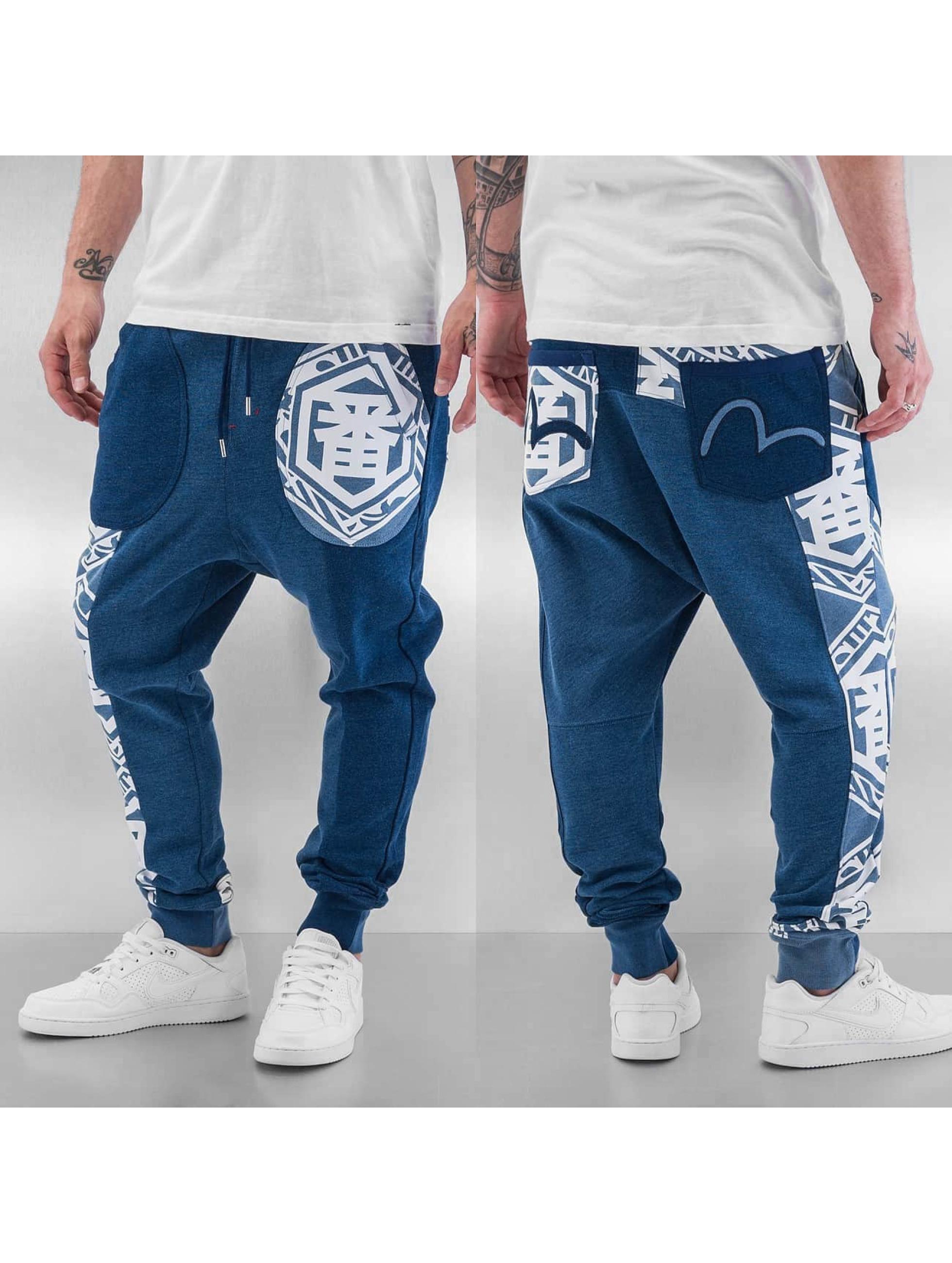 EVISU joggingbroek Ichiban blauw