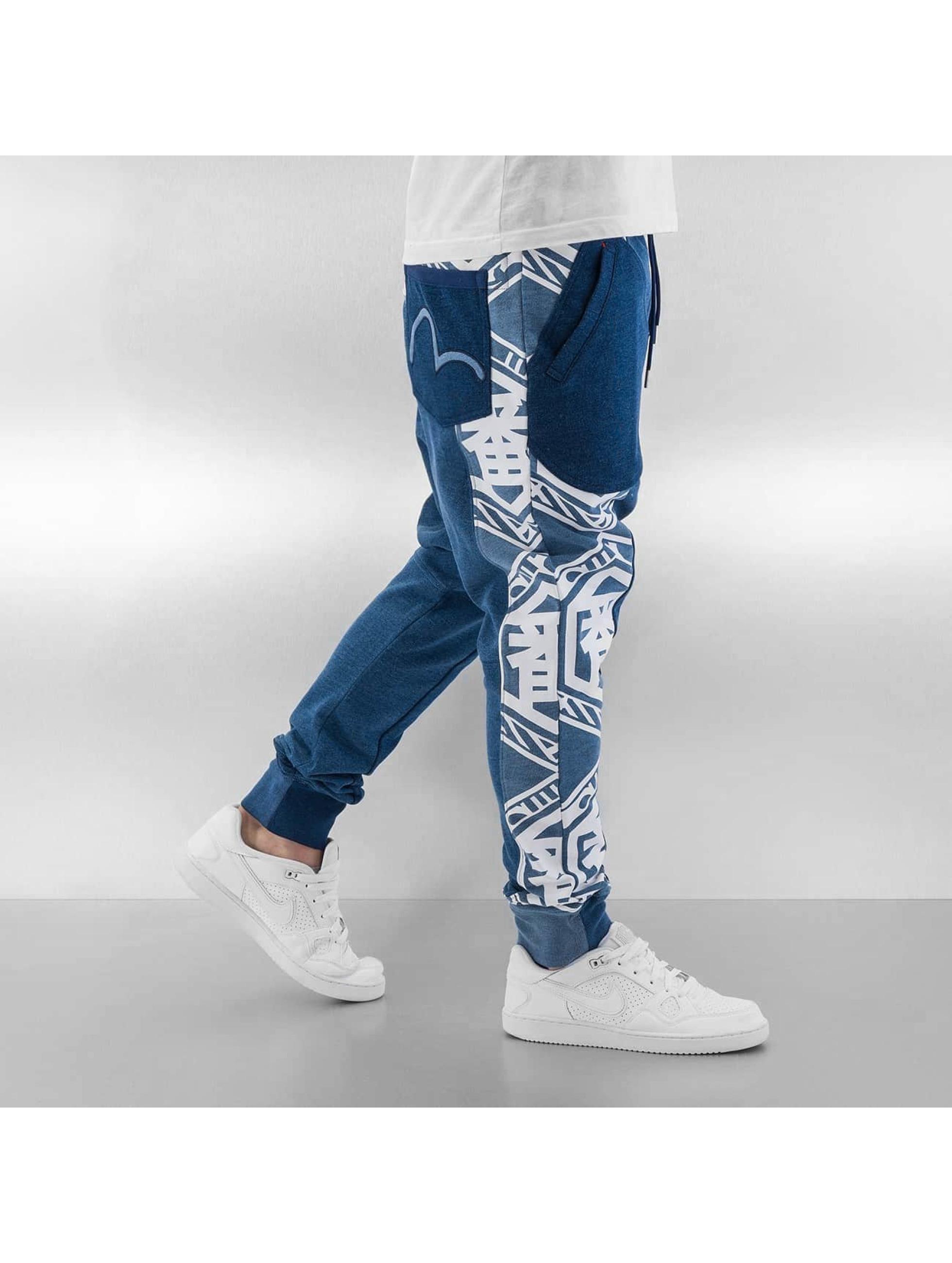 EVISU Spodnie do joggingu Ichiban niebieski