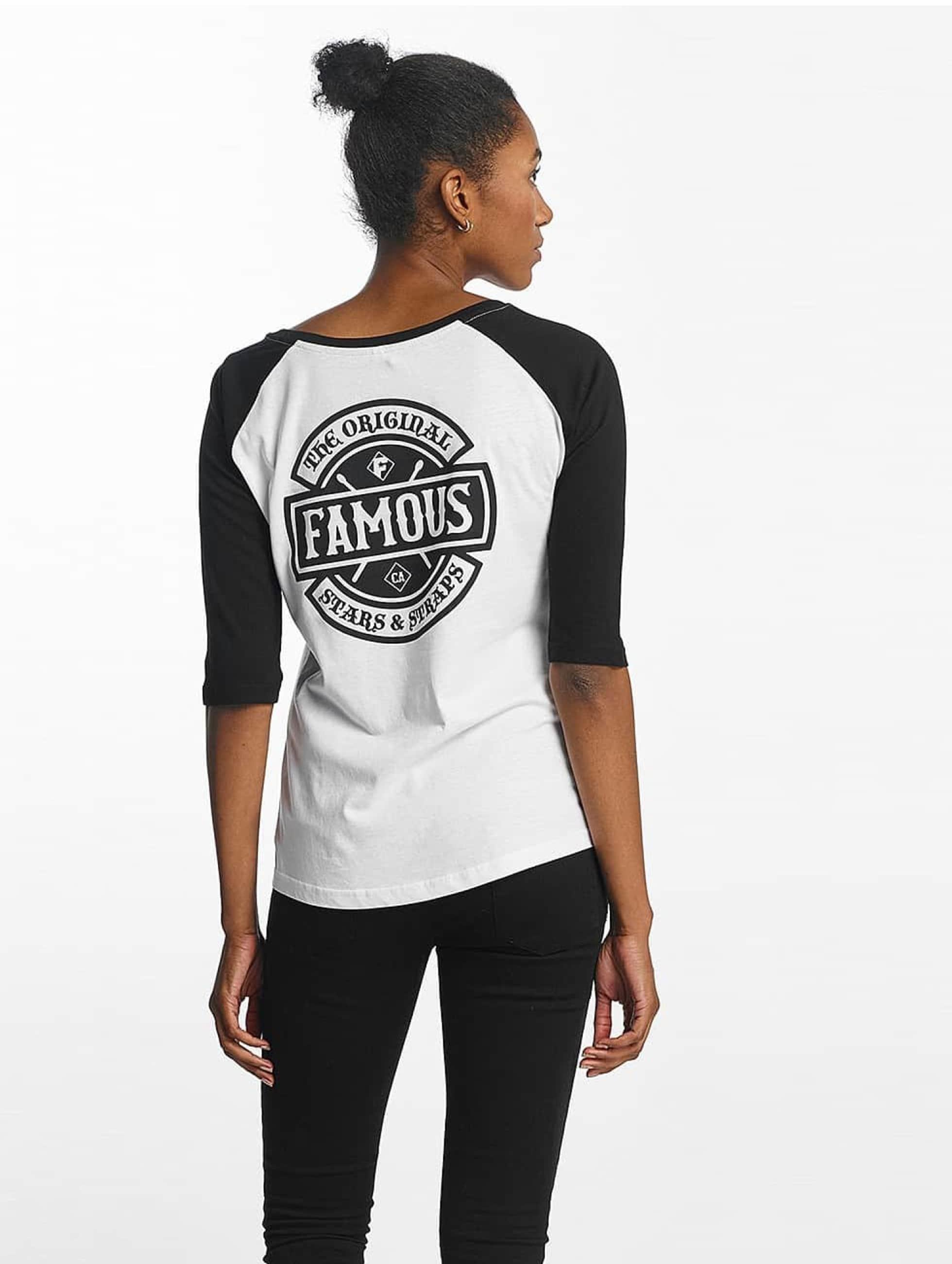 Famous Stars and Straps Camiseta Chaos Patch Raglan blanco