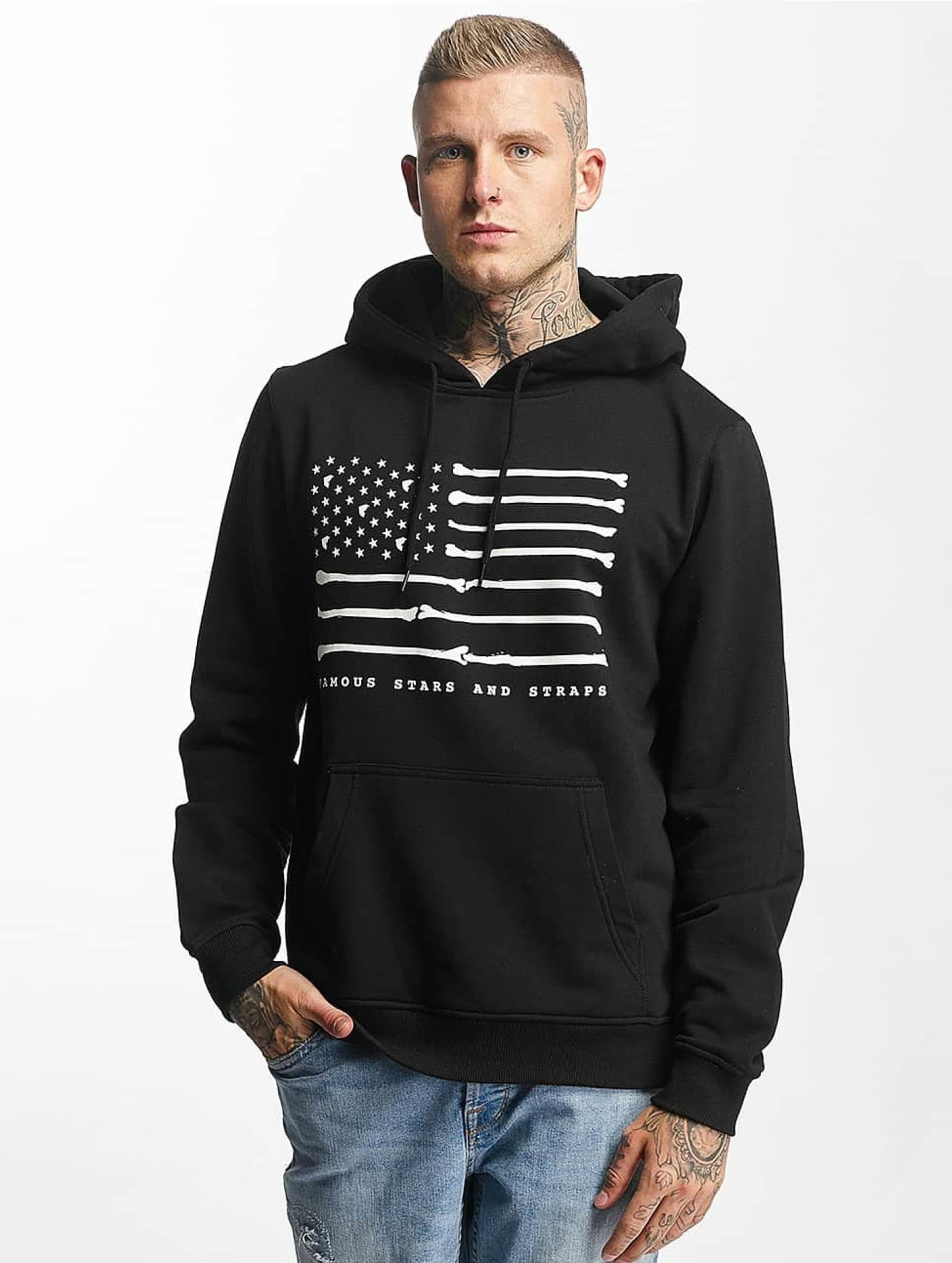 Famous Stars and Straps Hoodie Bone Flag black