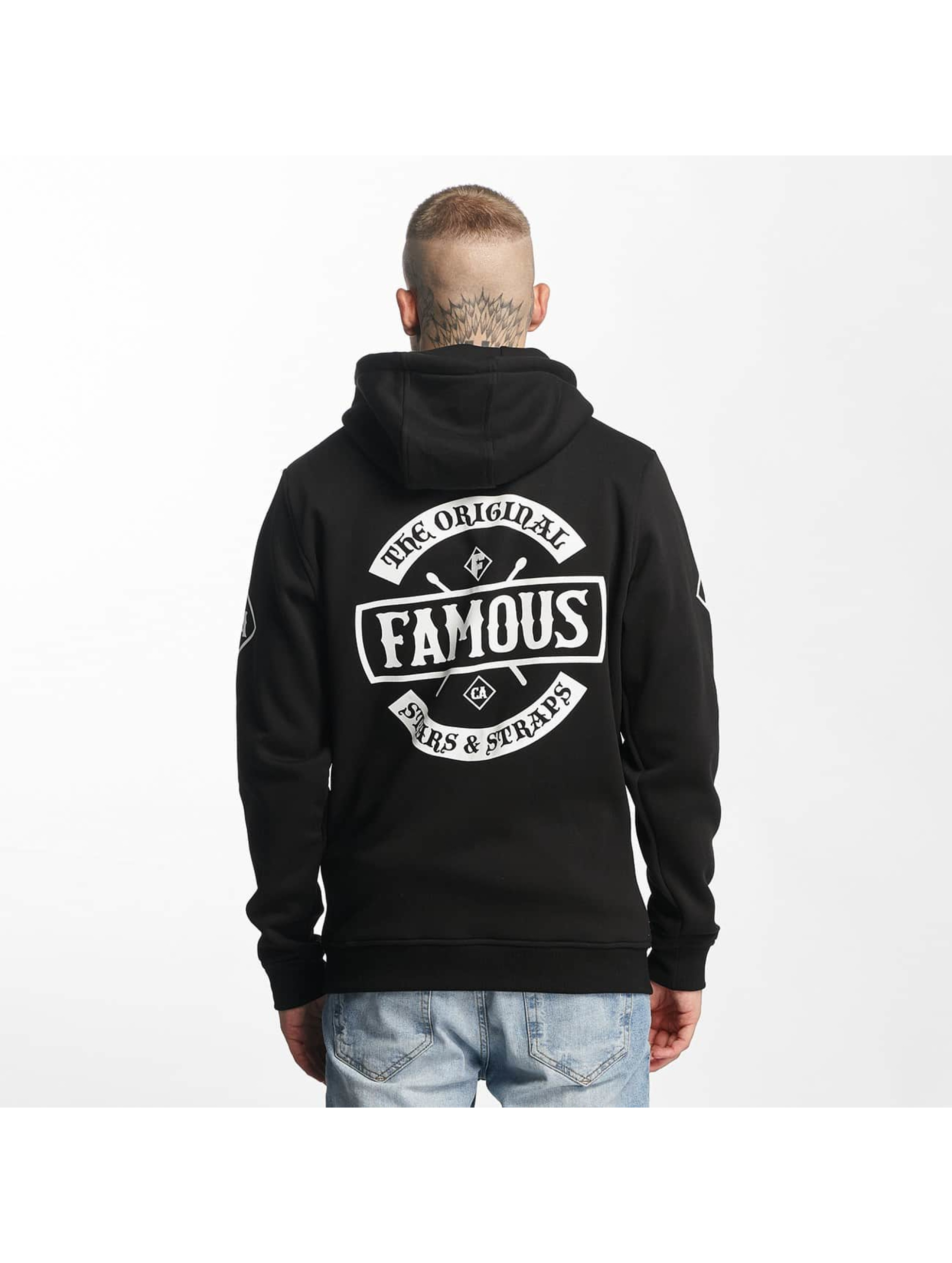 Famous Stars and Straps Sweatvest Chaos zwart