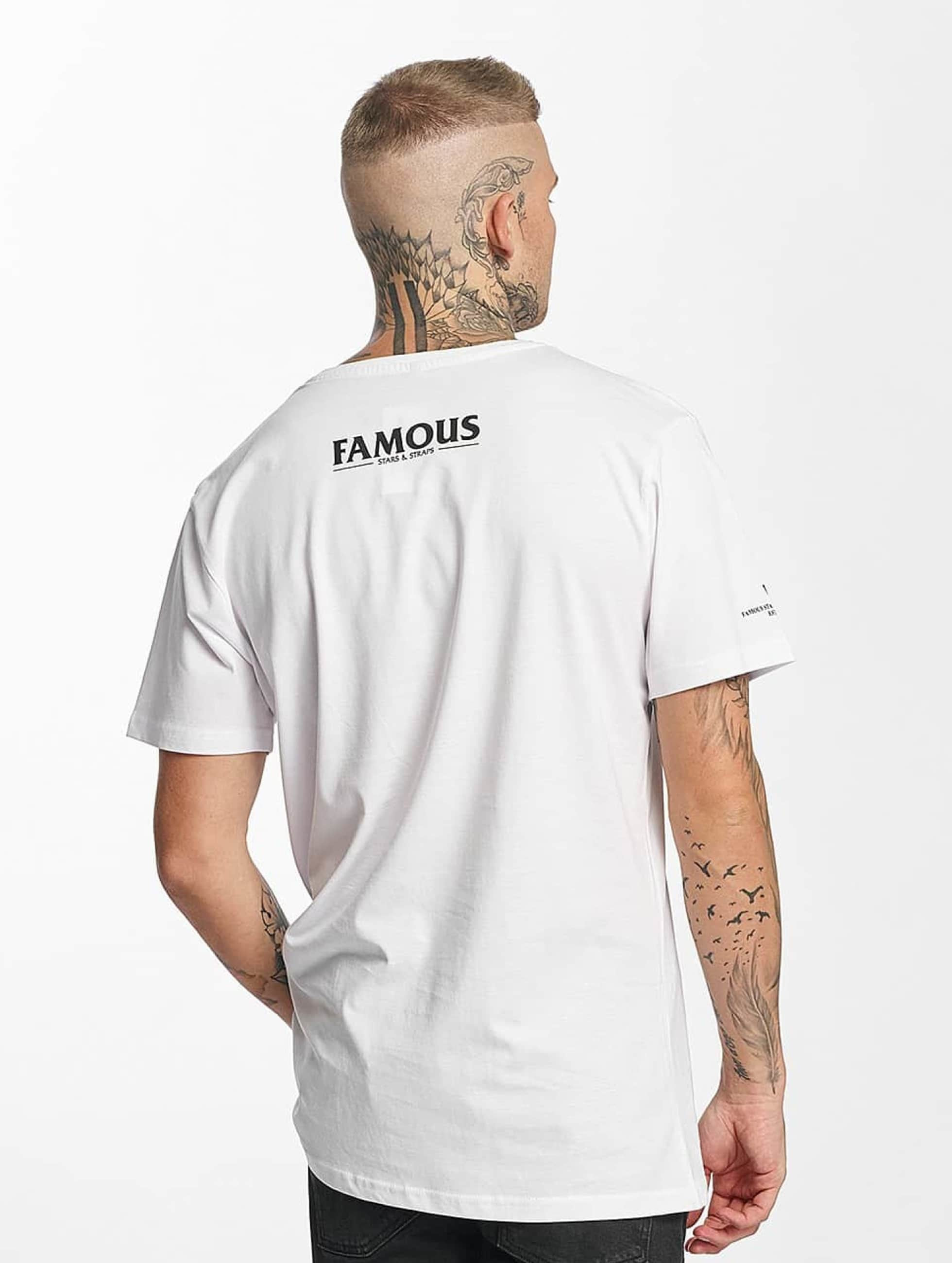 Famous Stars and Straps T-shirt Drums Drums Drums bianco