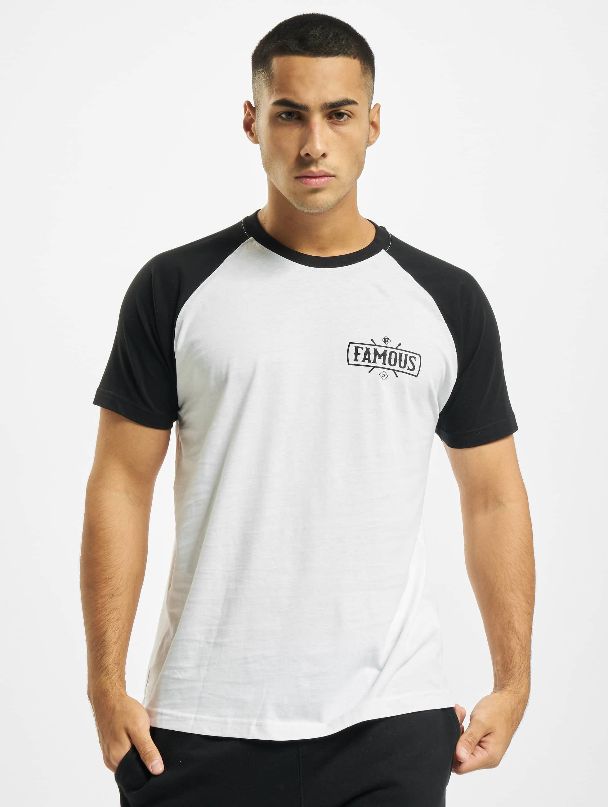 Famous Stars and Straps T-Shirt Chaos Patch Raglan blanc